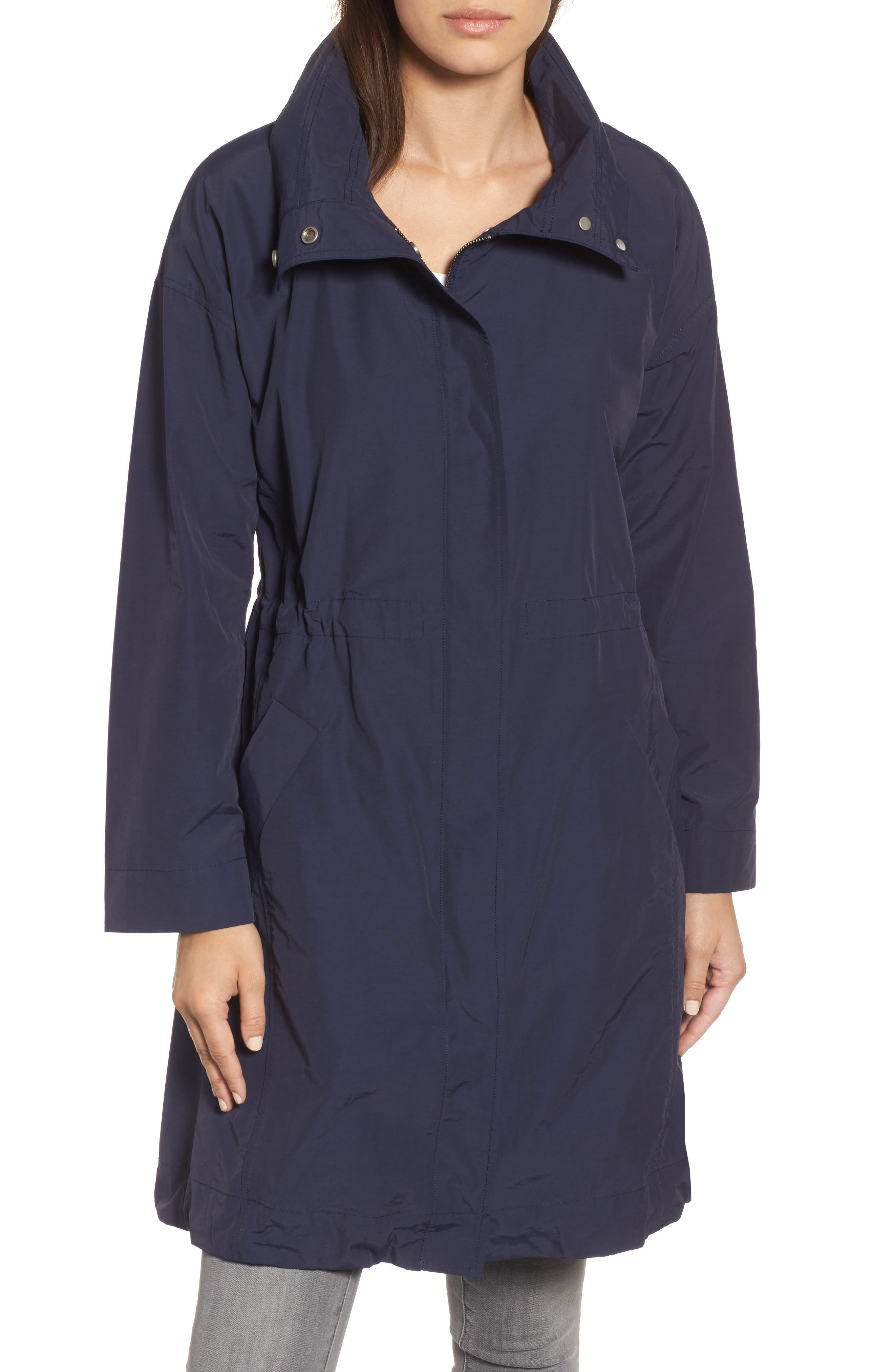 High Collar Long Jacket,                             Alternate thumbnail 4, color,                             419