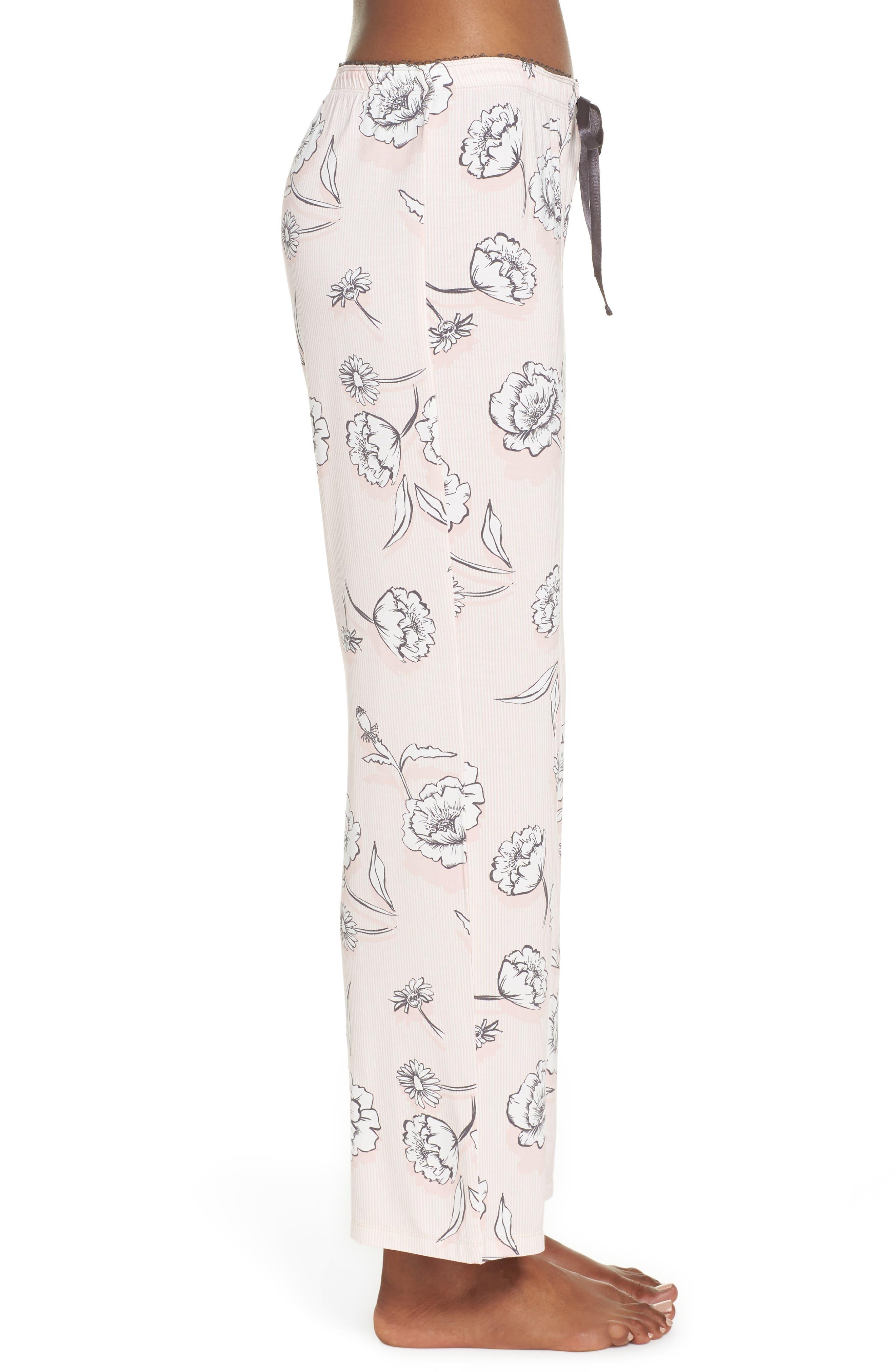 Floral Pajama Pants,                             Alternate thumbnail 3, color,                             650