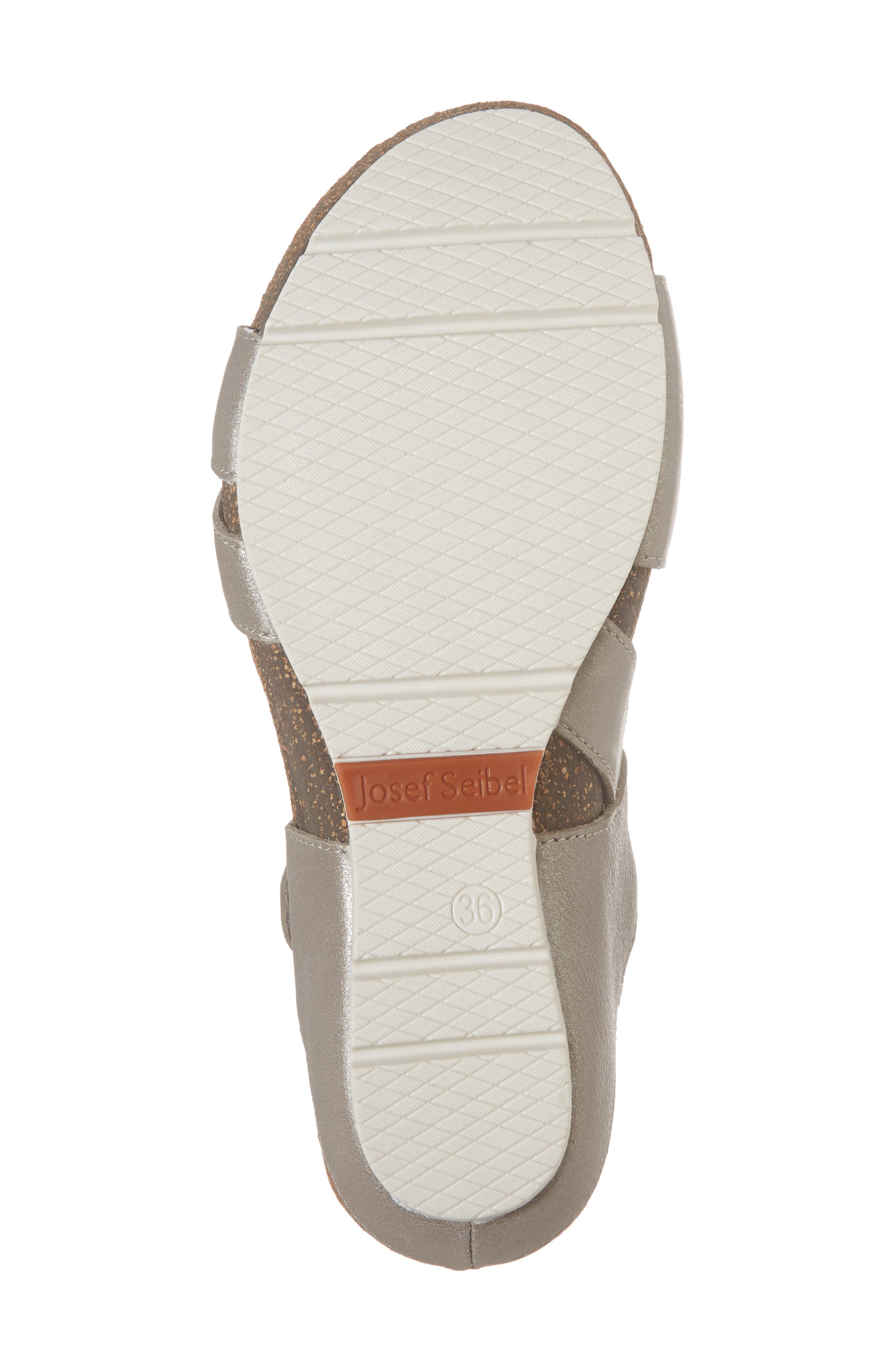 Hailey 33 Sandal,                             Alternate thumbnail 6, color,                             PLATINUM LEATHER