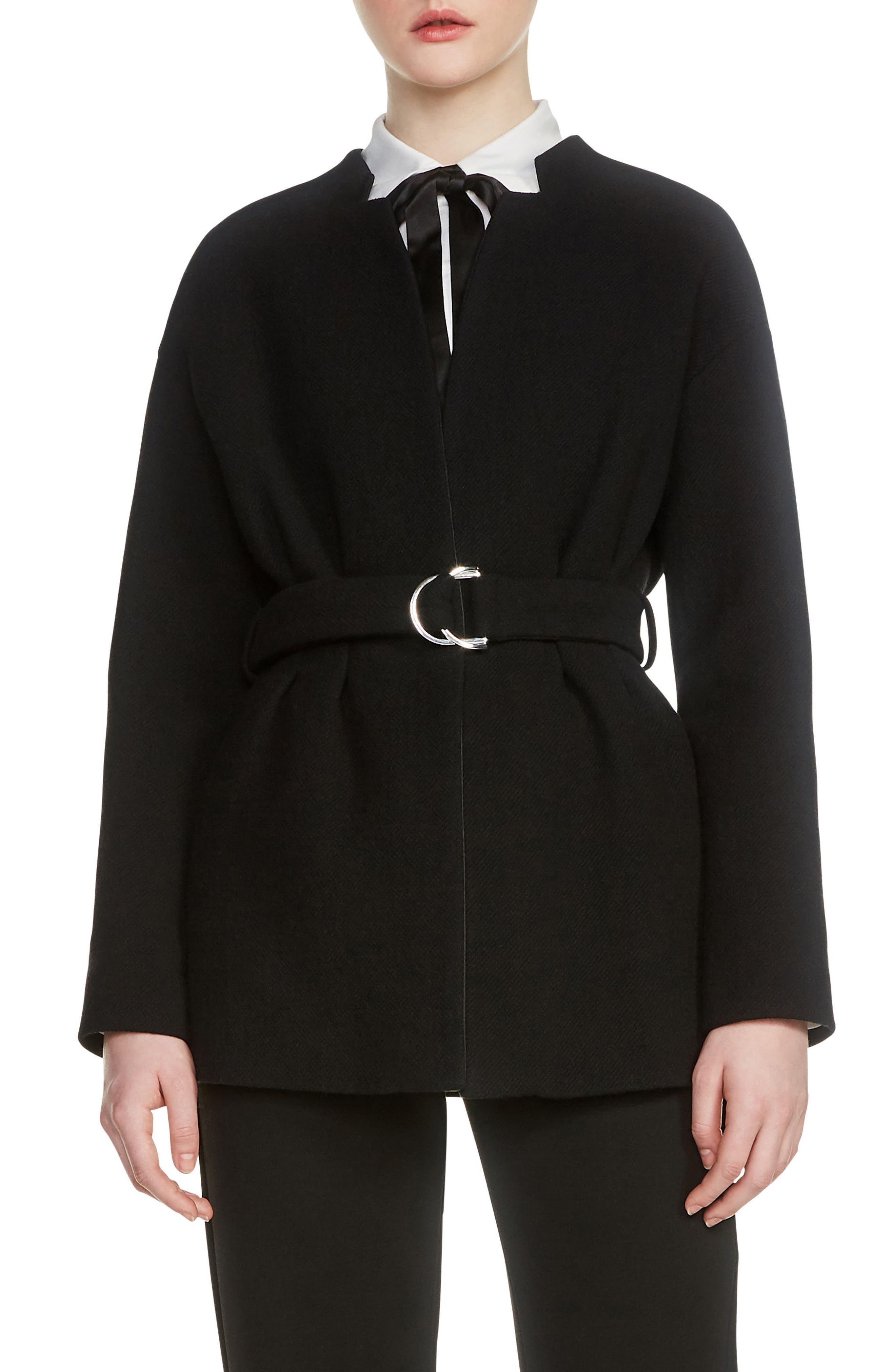 Gato Belted Jacket,                         Main,                         color, 001