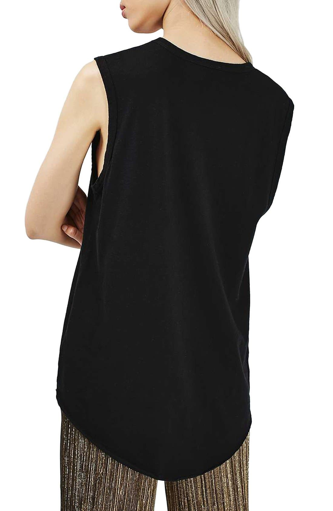 Slouchy U-Neck Tank,                             Alternate thumbnail 5, color,                             001