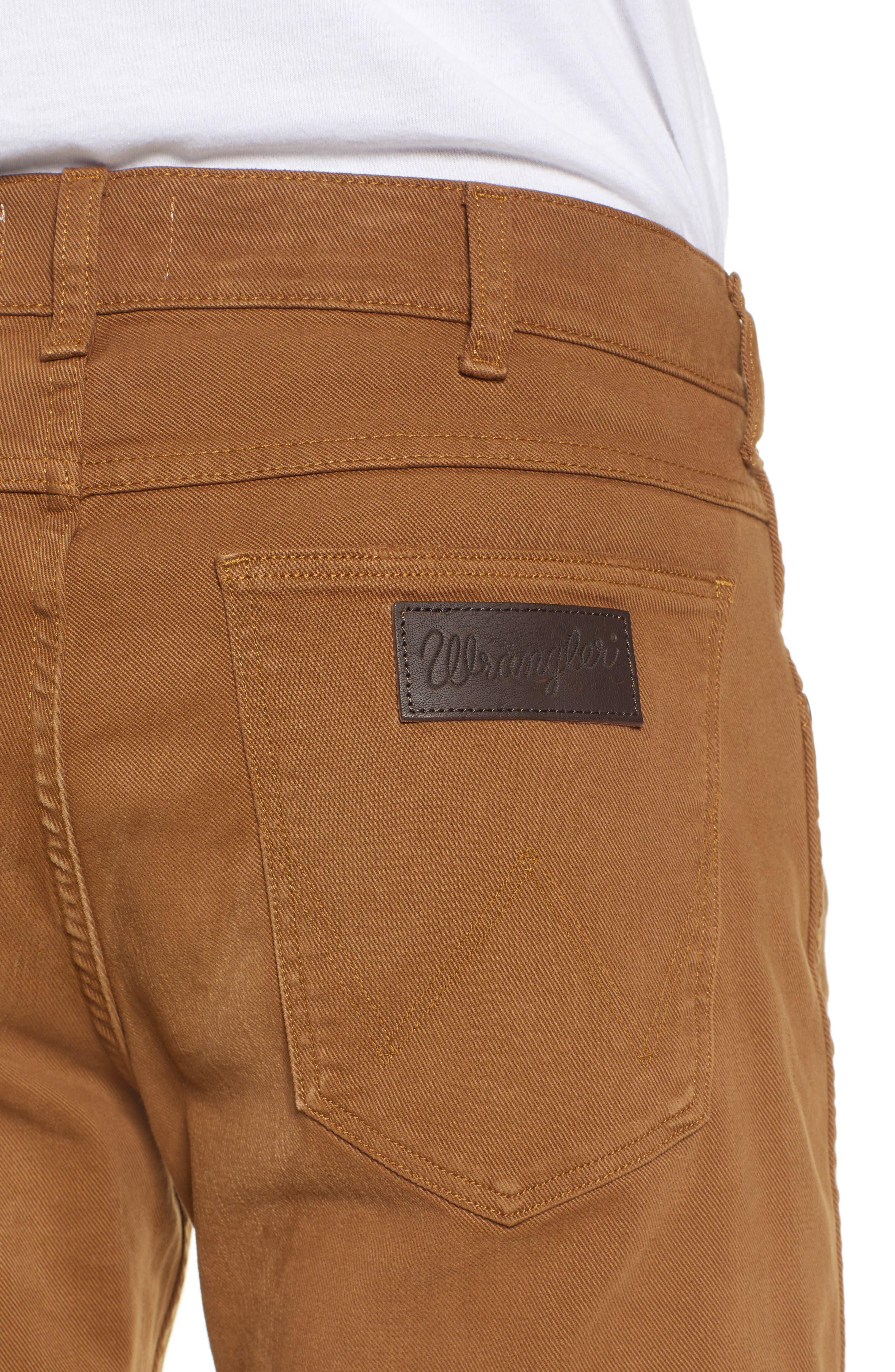 WRANGLER,                             Greensboro Straight Leg Pants,                             Alternate thumbnail 4, color,                             BISCUIT