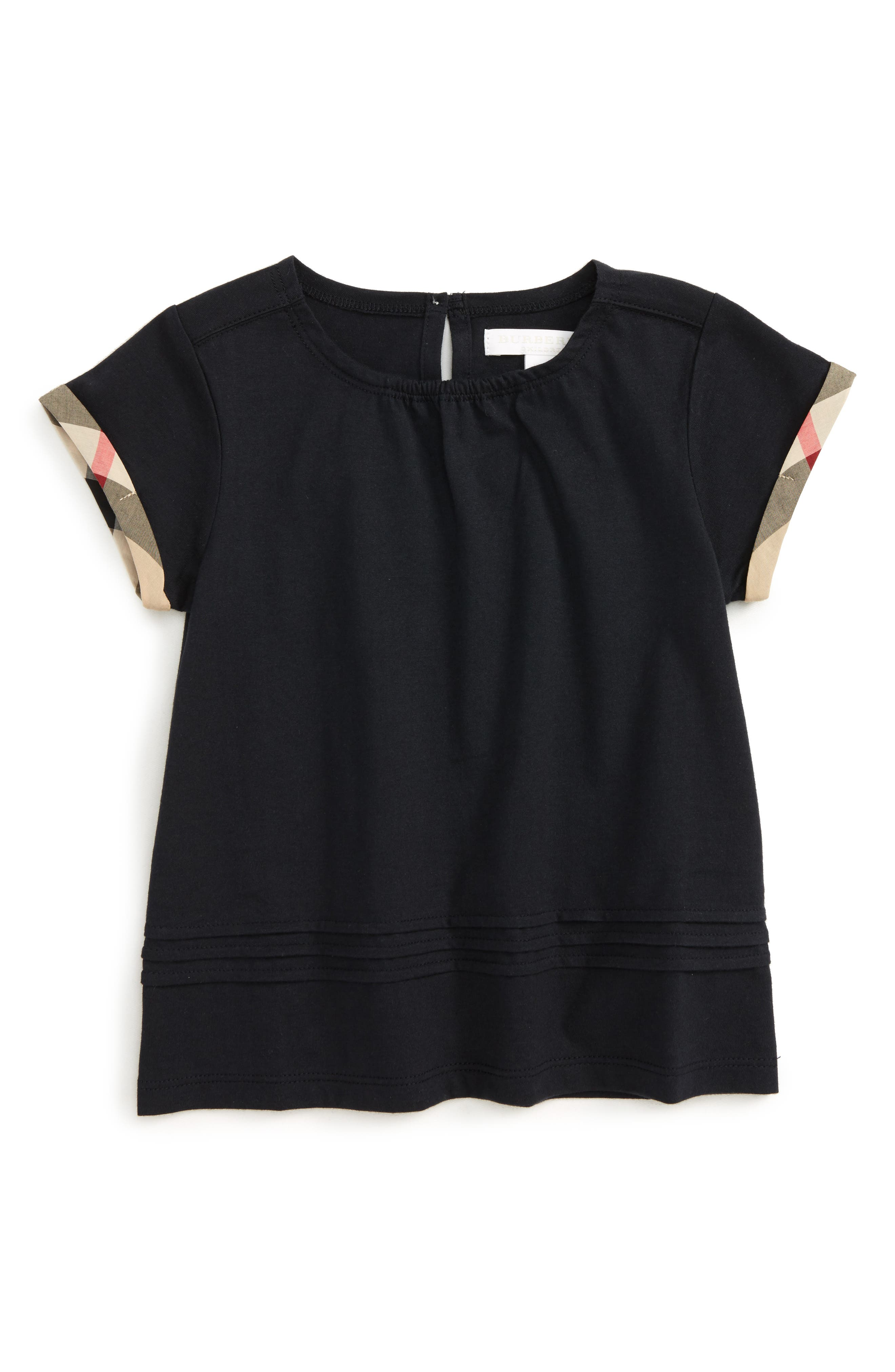 Gisselle Cuff Sleeve Tee,                         Main,                         color, NAVY