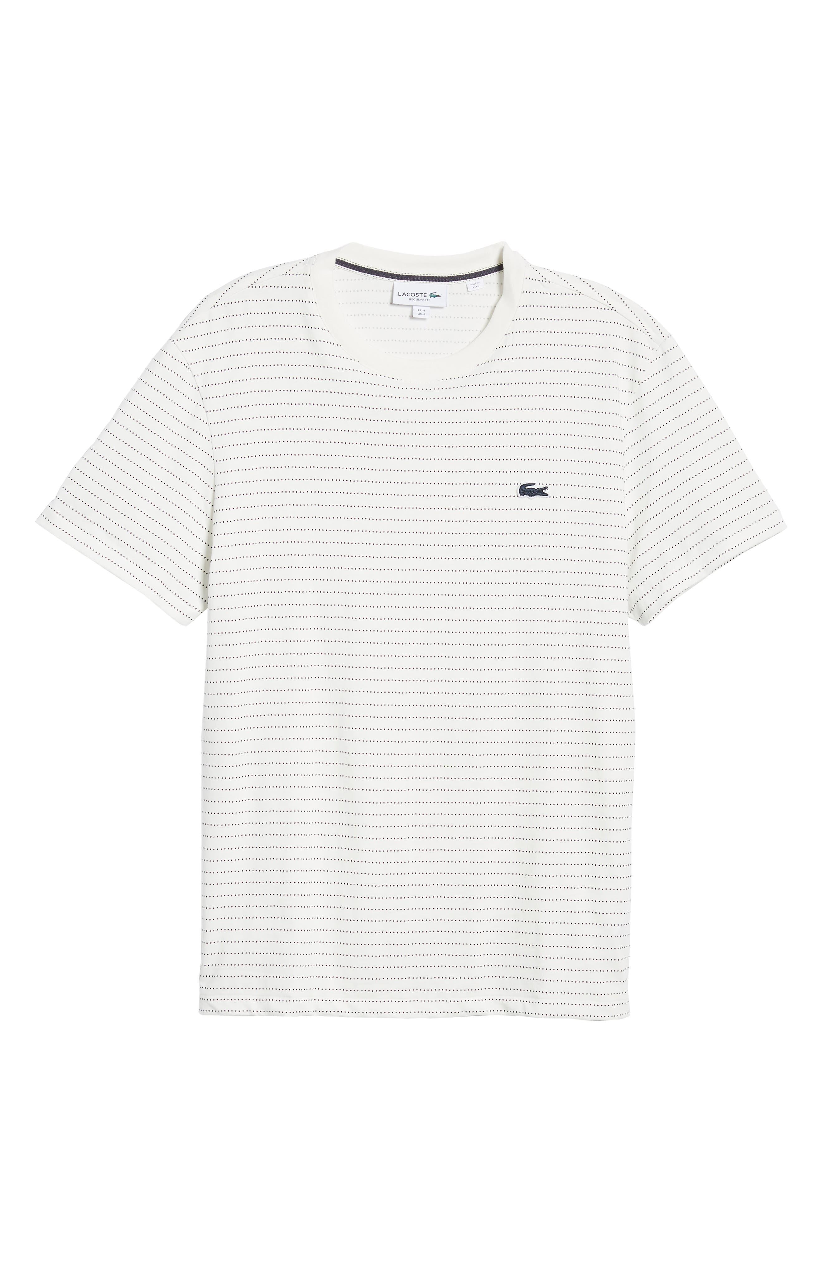 Dotted Stripe T-Shirt,                             Alternate thumbnail 6, color,                             FLOUR/ NAVY BLUE