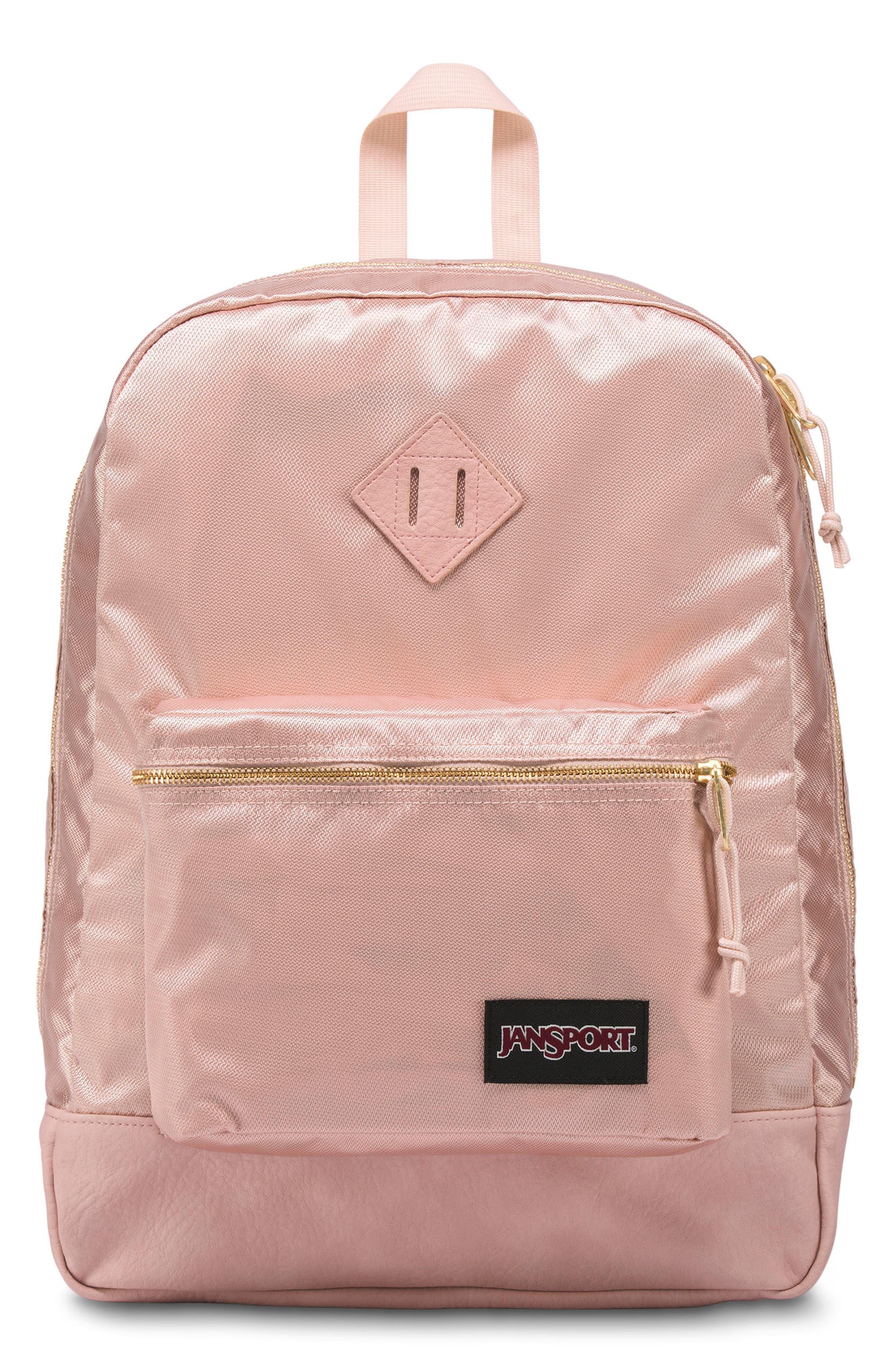 Super FX Gym Backpack,                             Main thumbnail 1, color,                             ROSE SMOKE GOLD