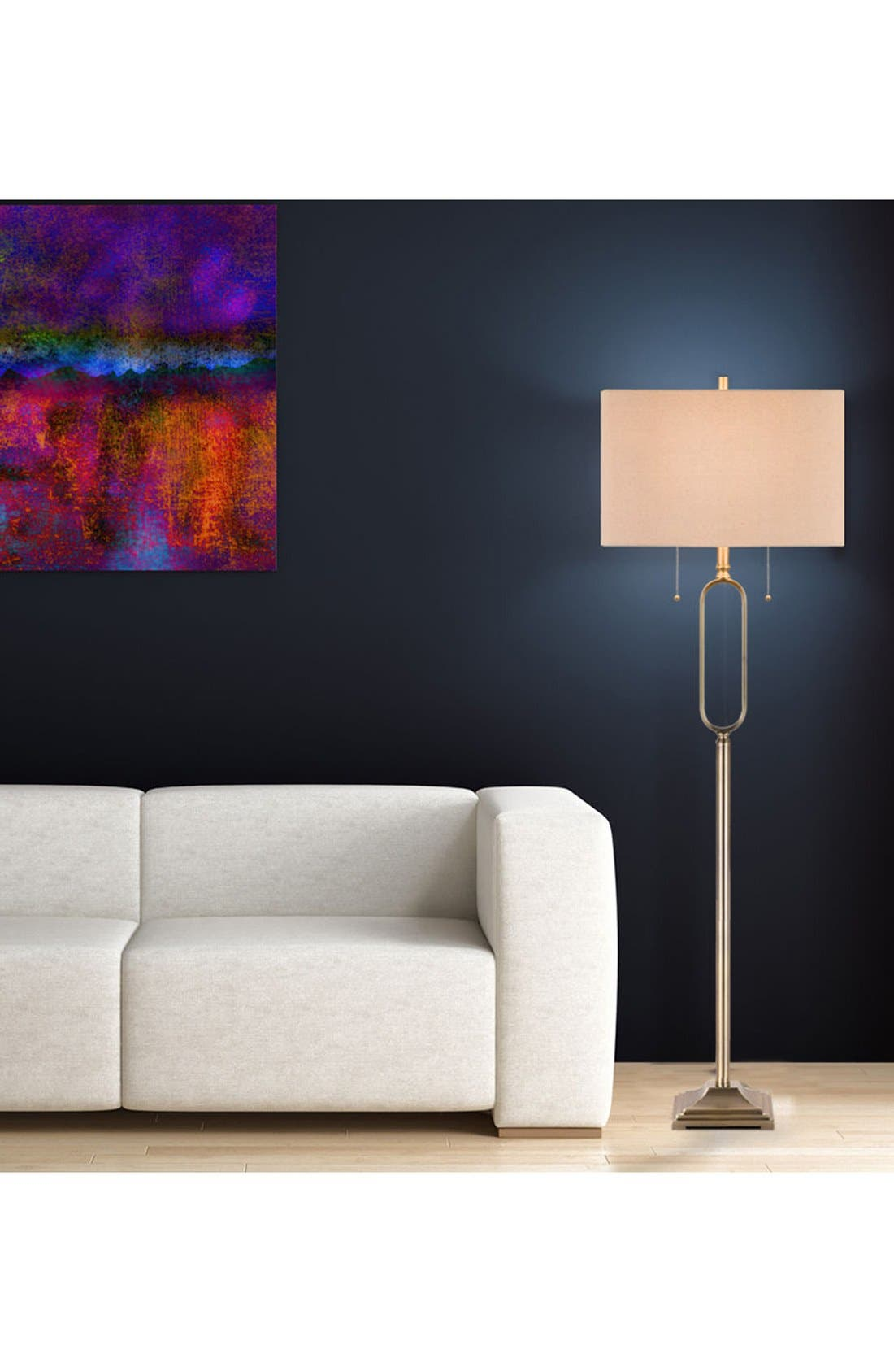 JAlexander Metal Floor Lamp,                             Alternate thumbnail 2, color,                             METALLIC GOLD
