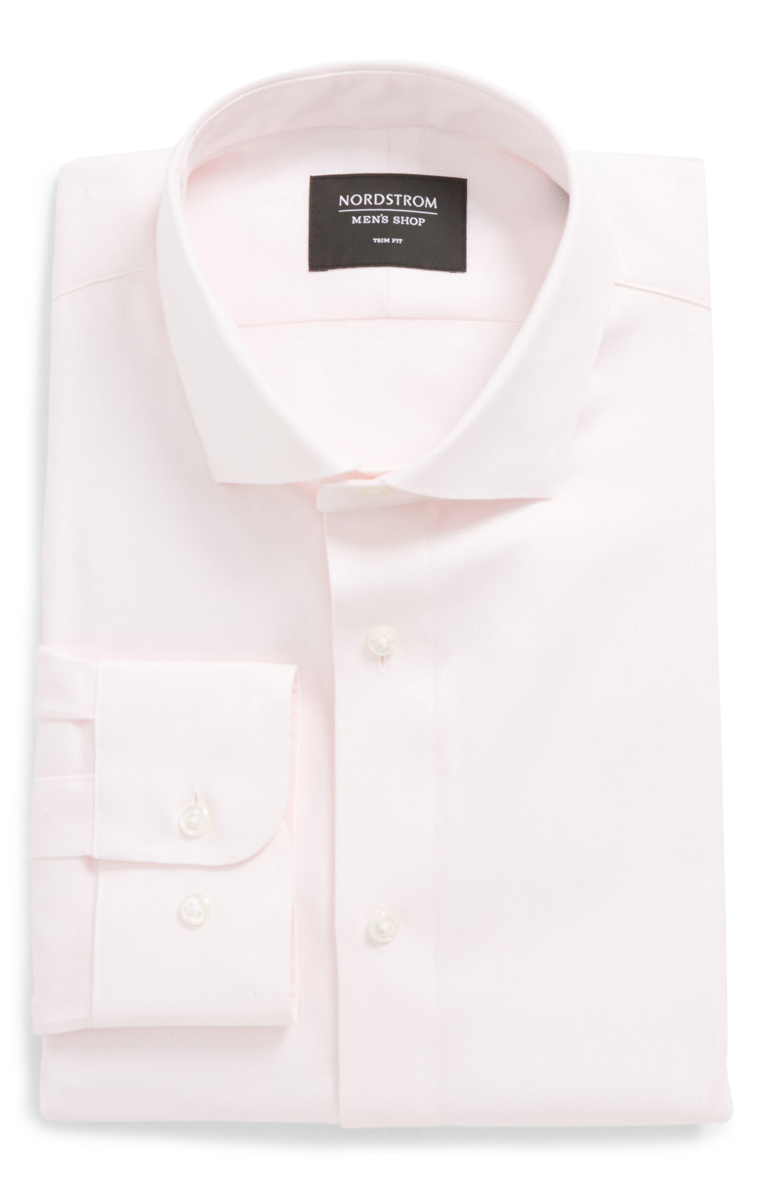 Trim Fit Solid Dress Shirt,                             Alternate thumbnail 22, color,