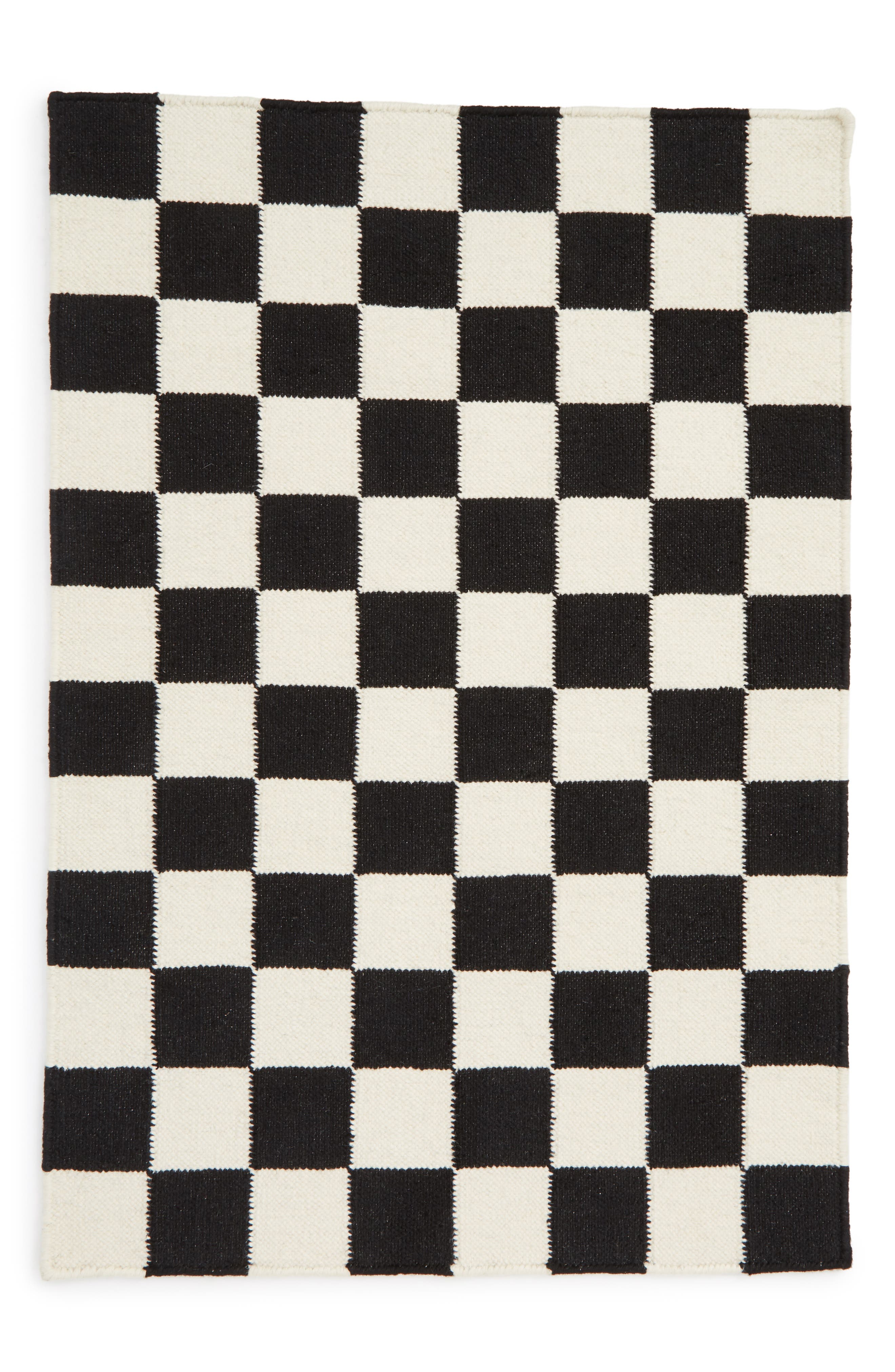 AELFIE Checkmate Flat Weave Rug, Main, color, 100