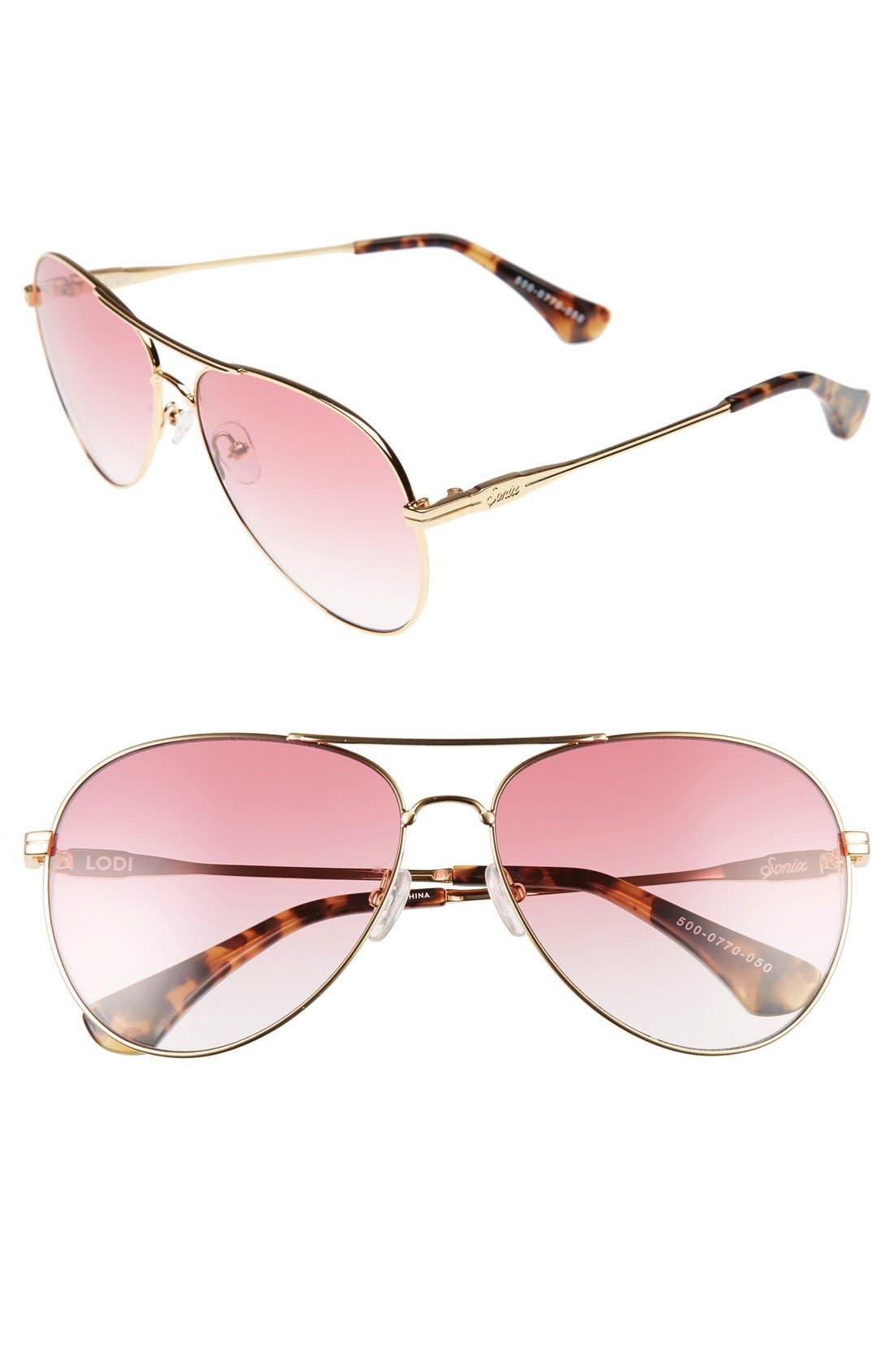 Lodi 62mm Mirrored Aviator Sunglasses,                             Main thumbnail 2, color,