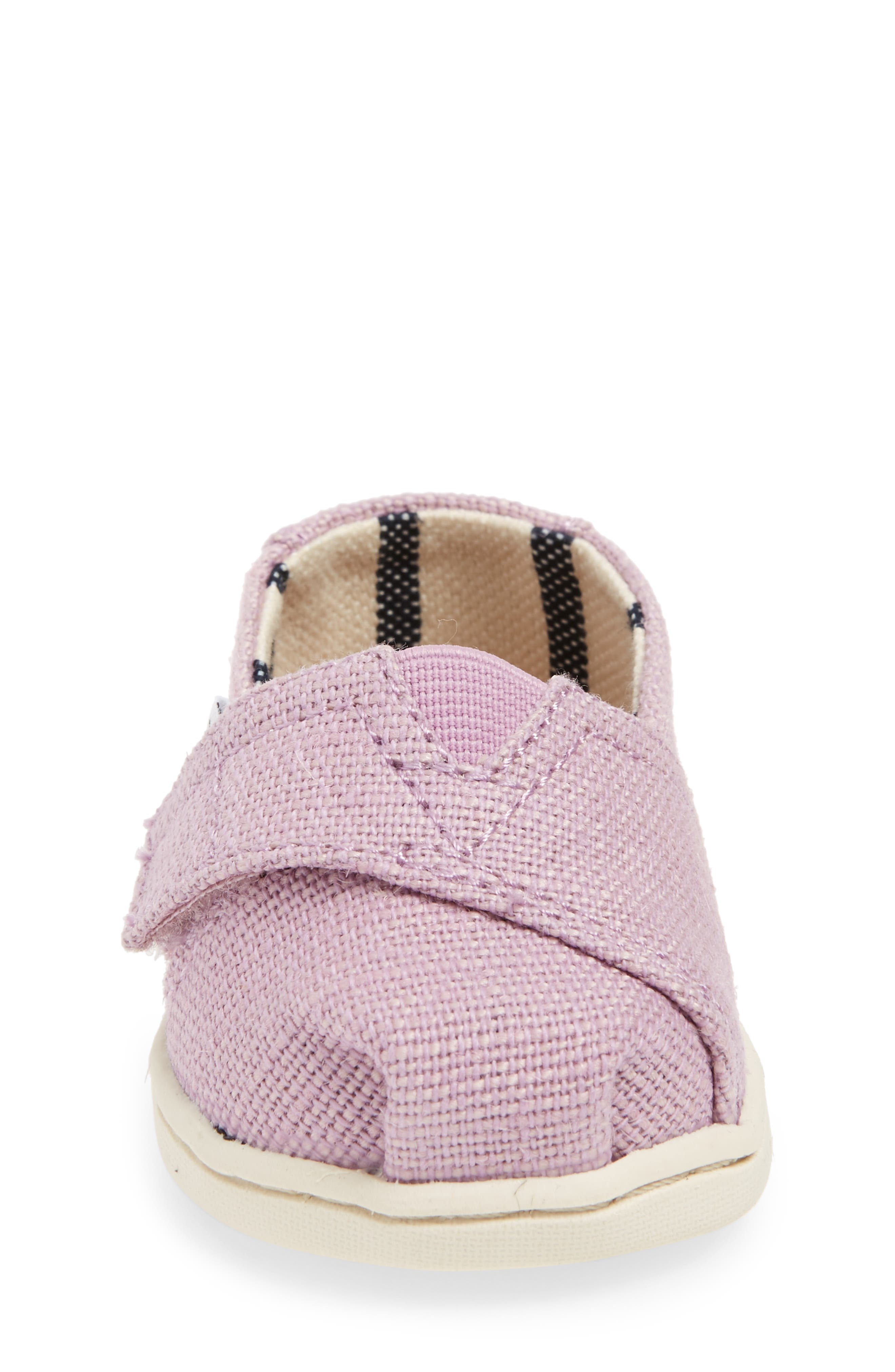 Heritage Canvas Slip-On,                             Alternate thumbnail 4, color,                             SOFT LILAC HERITAGE CANVAS