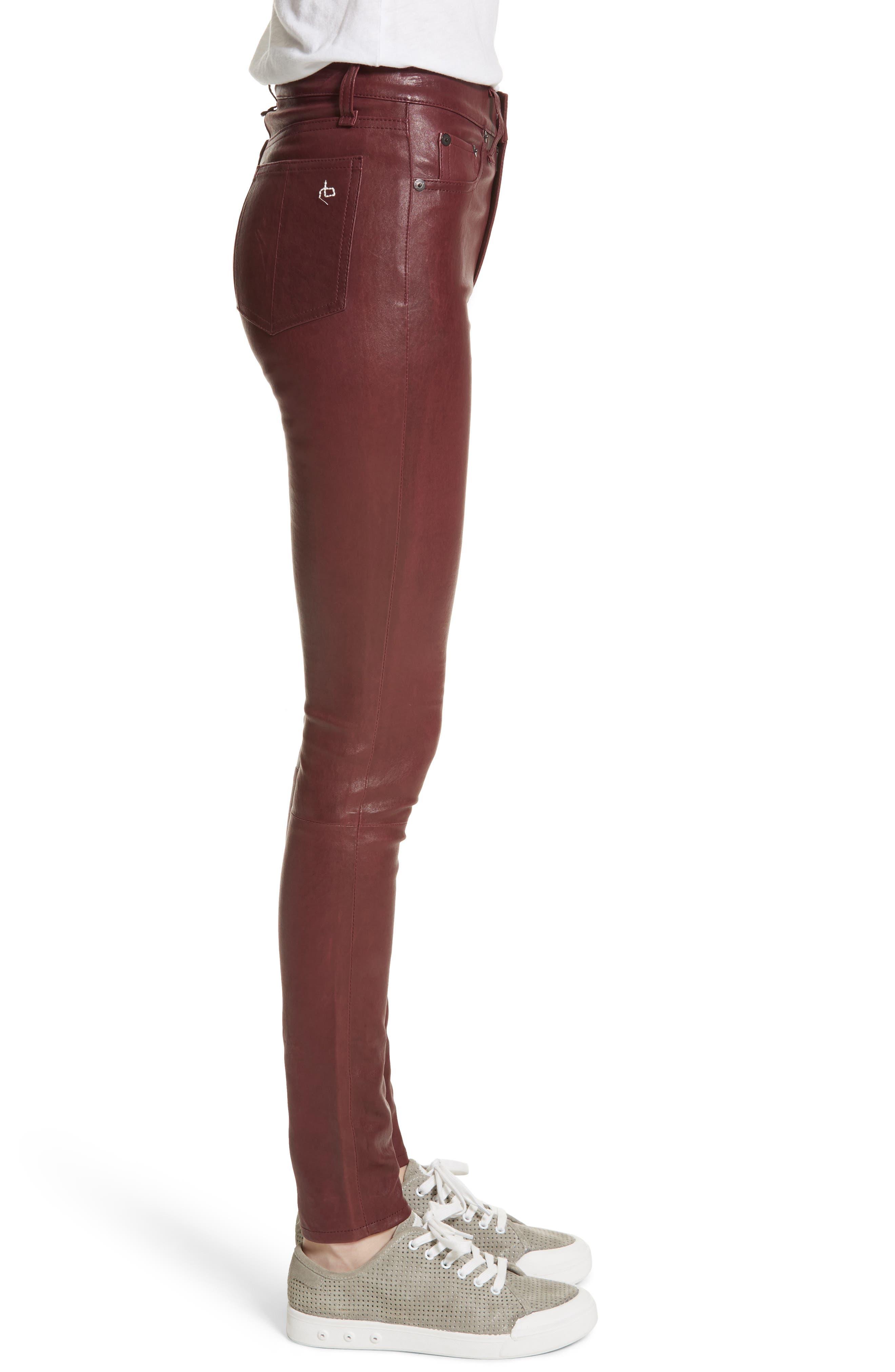 Lambskin Leather Pants,                             Alternate thumbnail 12, color,