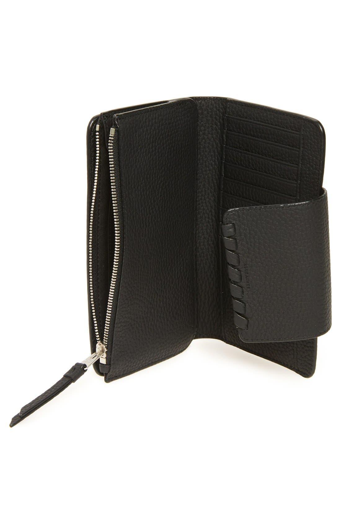 Kita Japanese Leather Wallet,                             Alternate thumbnail 3, color,                             001