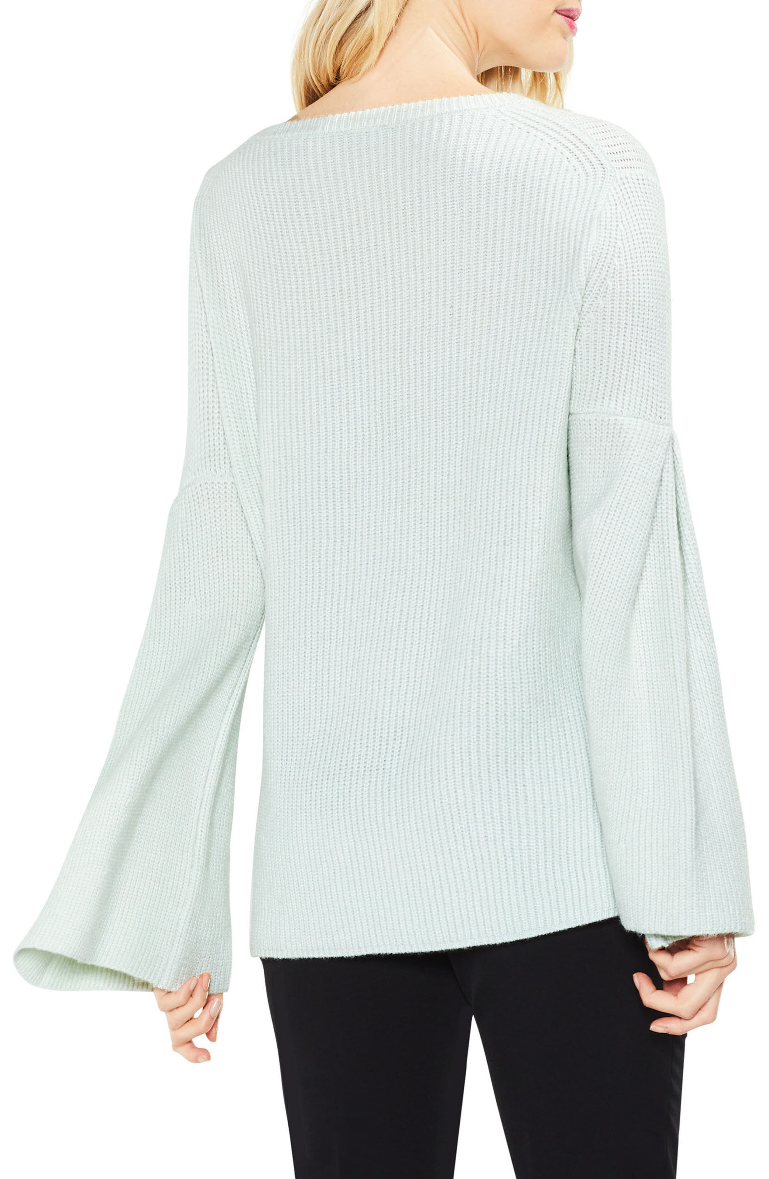 All Over Rib Bell Sleeve Sweater,                             Alternate thumbnail 9, color,