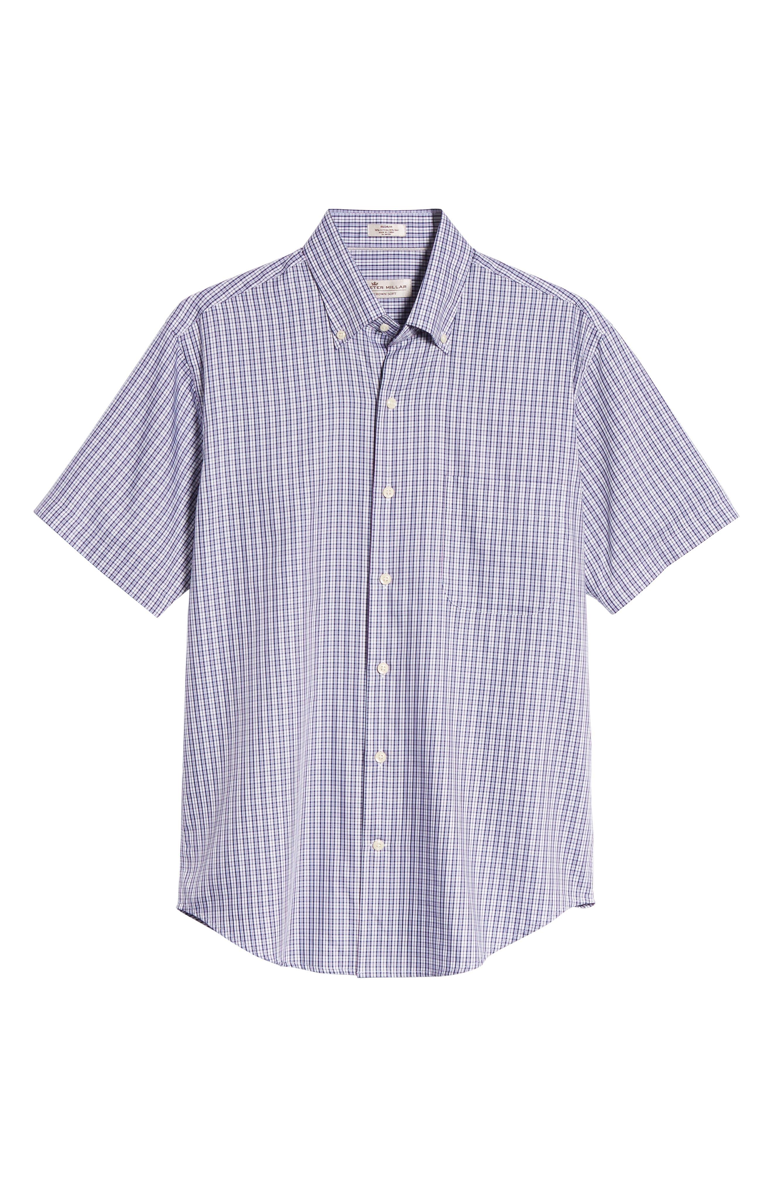 Crown Soft Carlsplaid Regular Fit Sport Shirt,                             Alternate thumbnail 6, color,                             412