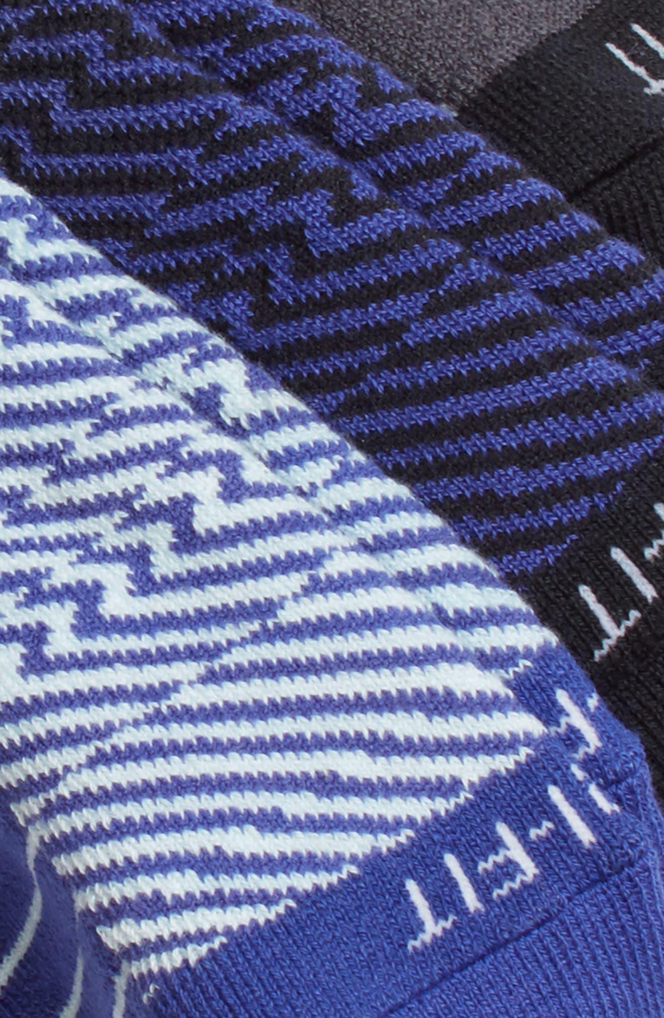 Elite 3-Pack Reflective Running Tab Socks,                             Alternate thumbnail 6, color,