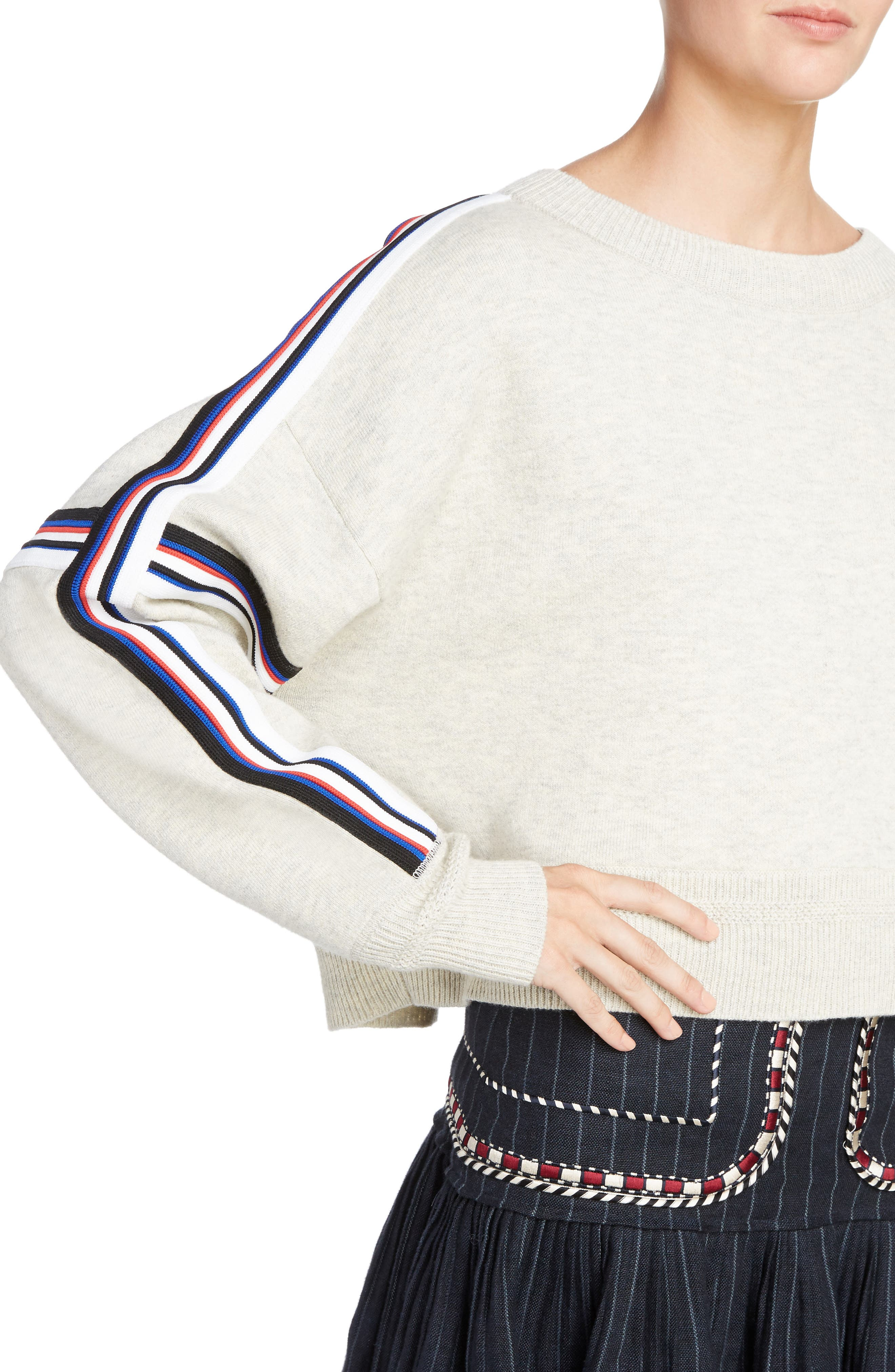 Isabel Marant Étoile Kao Sweatshirt,                             Alternate thumbnail 4, color,