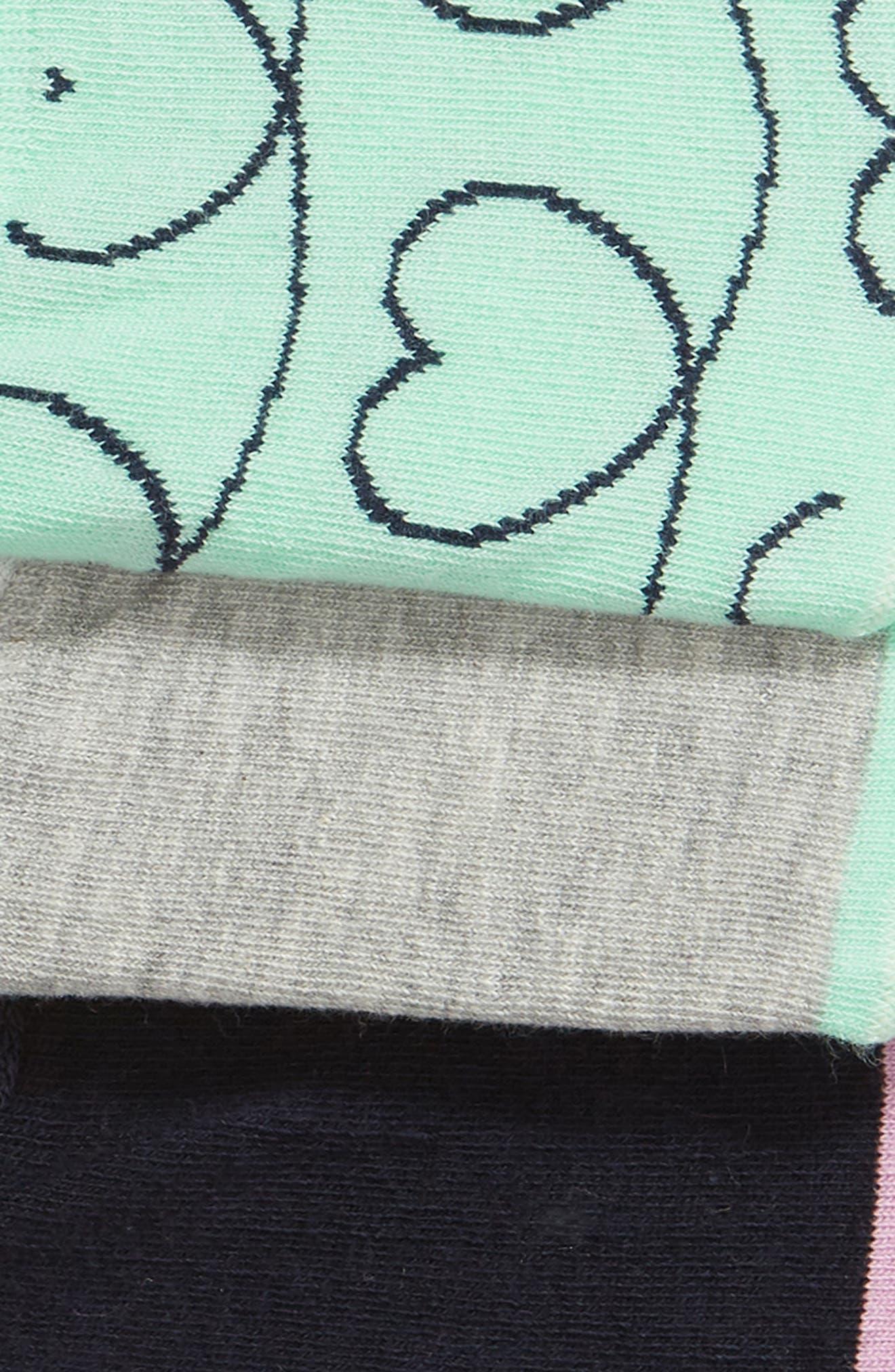 Loveline 3-Pack Liner Socks,                             Alternate thumbnail 2, color,                             GREEN