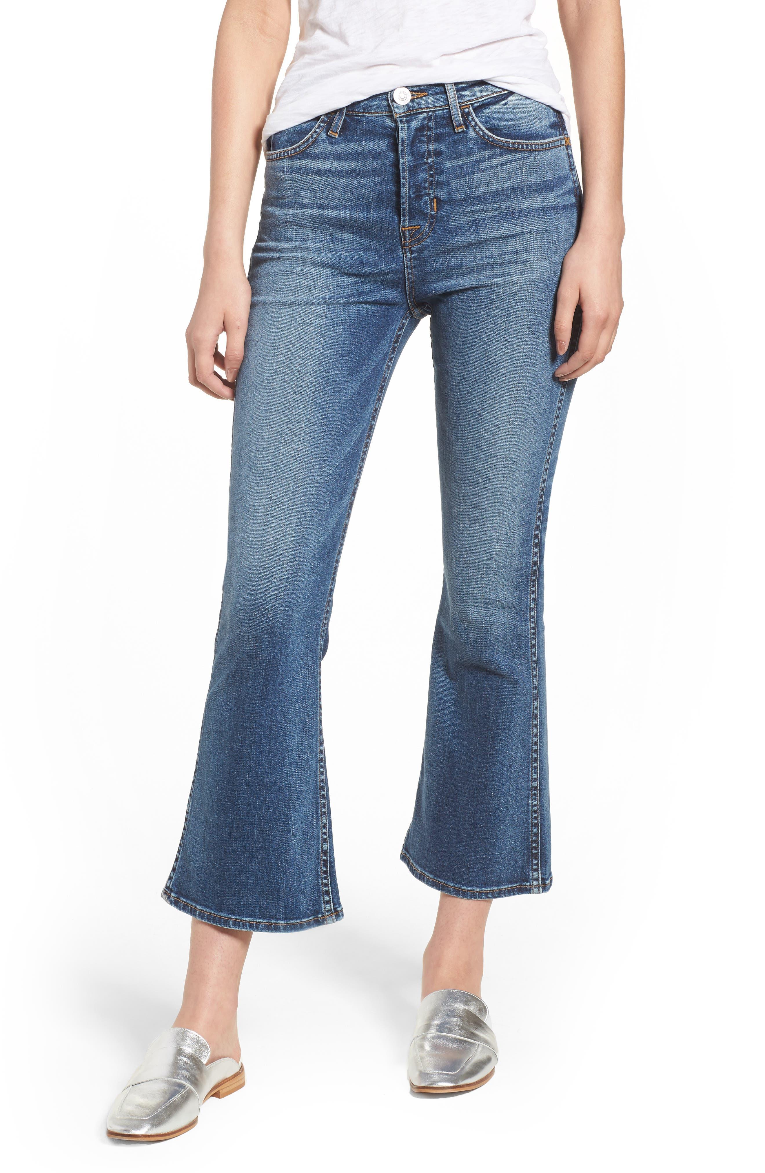 Holly High Waist Crop Flare Jeans,                             Main thumbnail 1, color,                             426