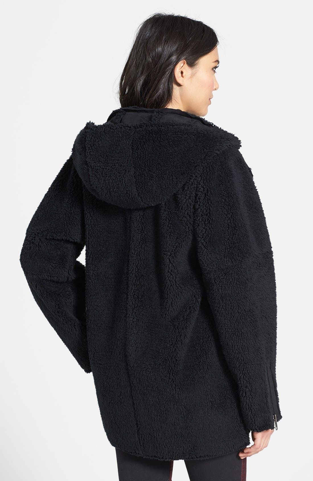 Oversized Fleece Coat,                             Alternate thumbnail 2, color,                             001