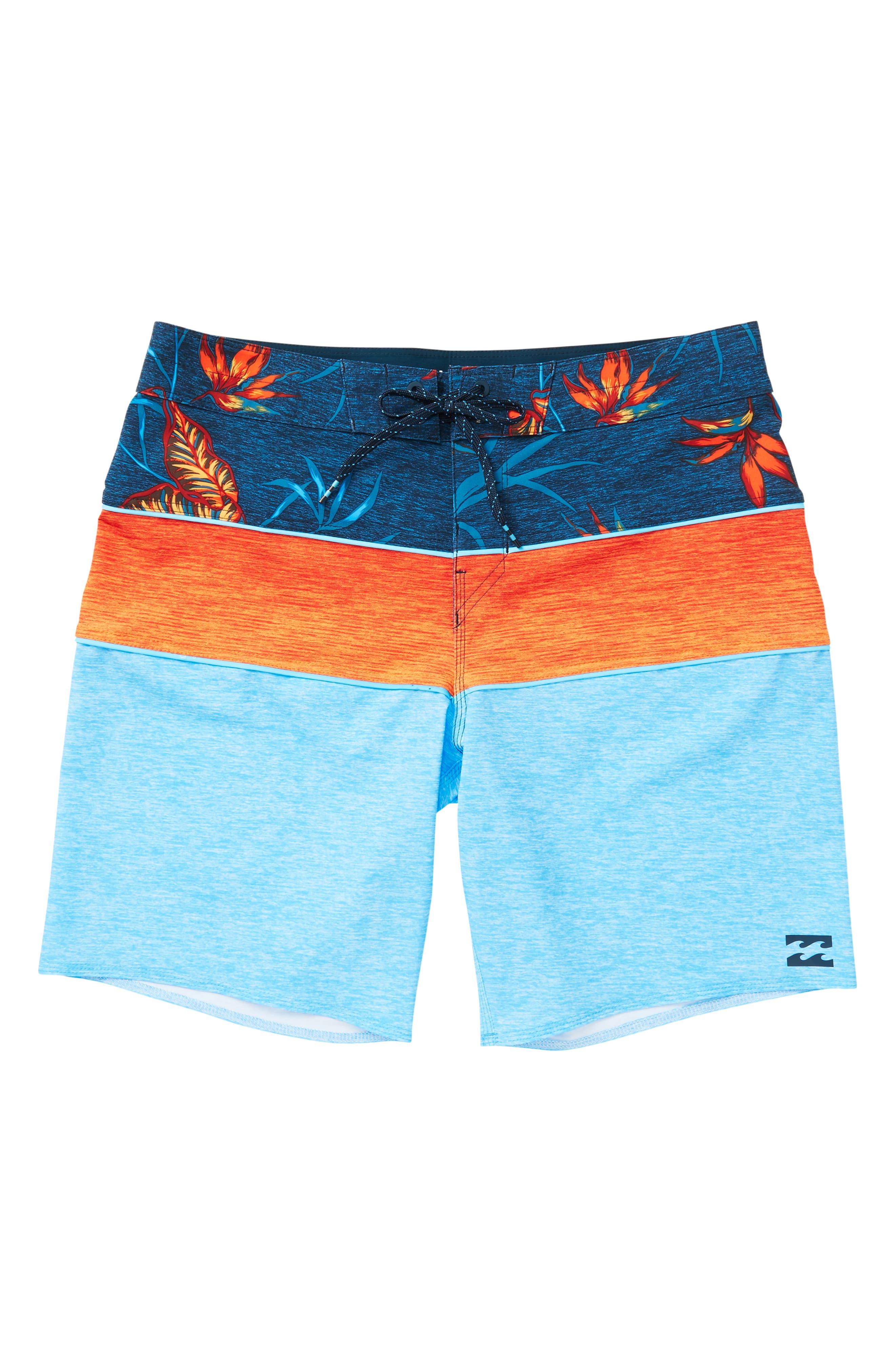 Tribong X Board Shorts,                         Main,                         color, CYAN