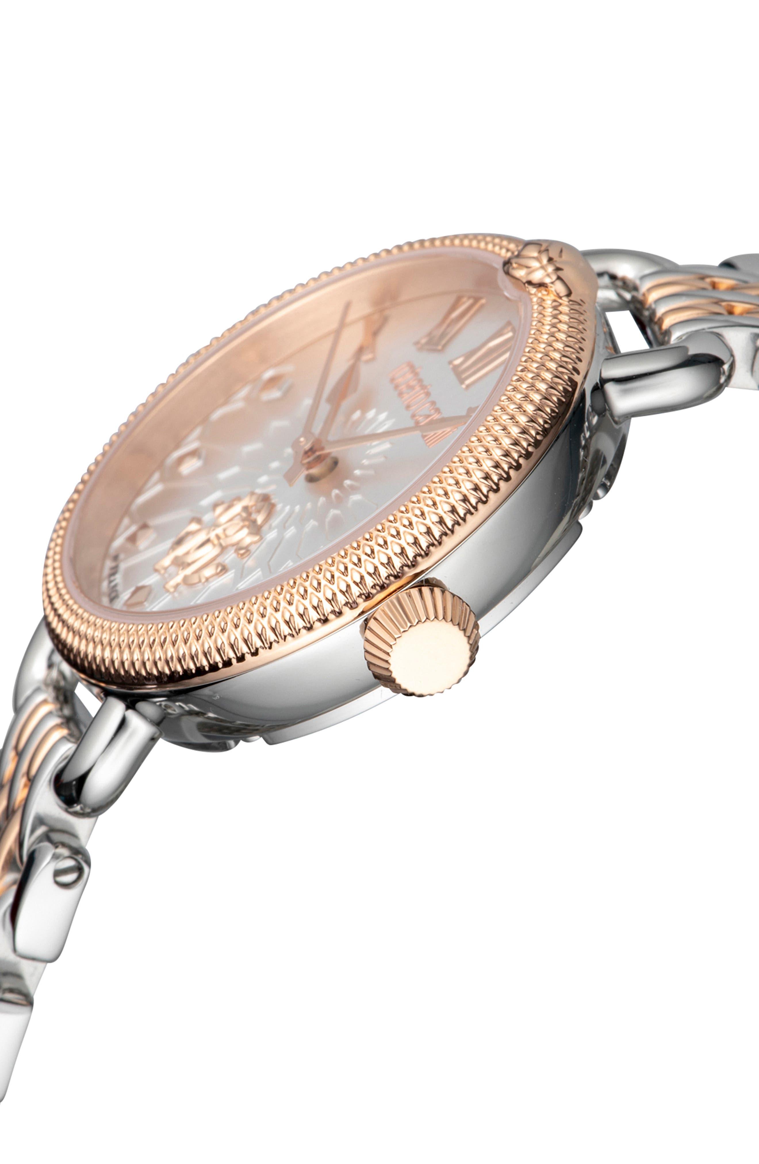 Floreale Bracelet Watch, 30mm,                             Alternate thumbnail 3, color,                             ROSE GOLD/ SILVER
