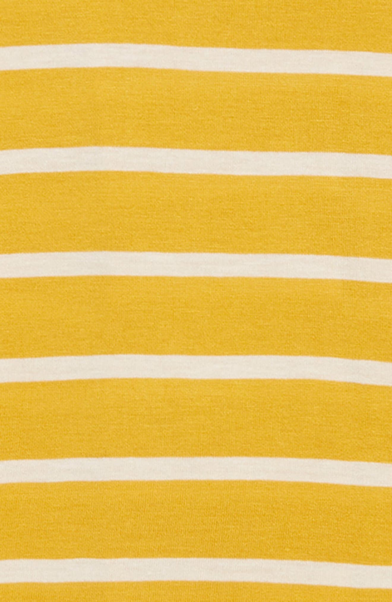 Lace-Up Back Tee,                             Alternate thumbnail 3, color,                             YELLOW MINERAL- IVORY STRIPE