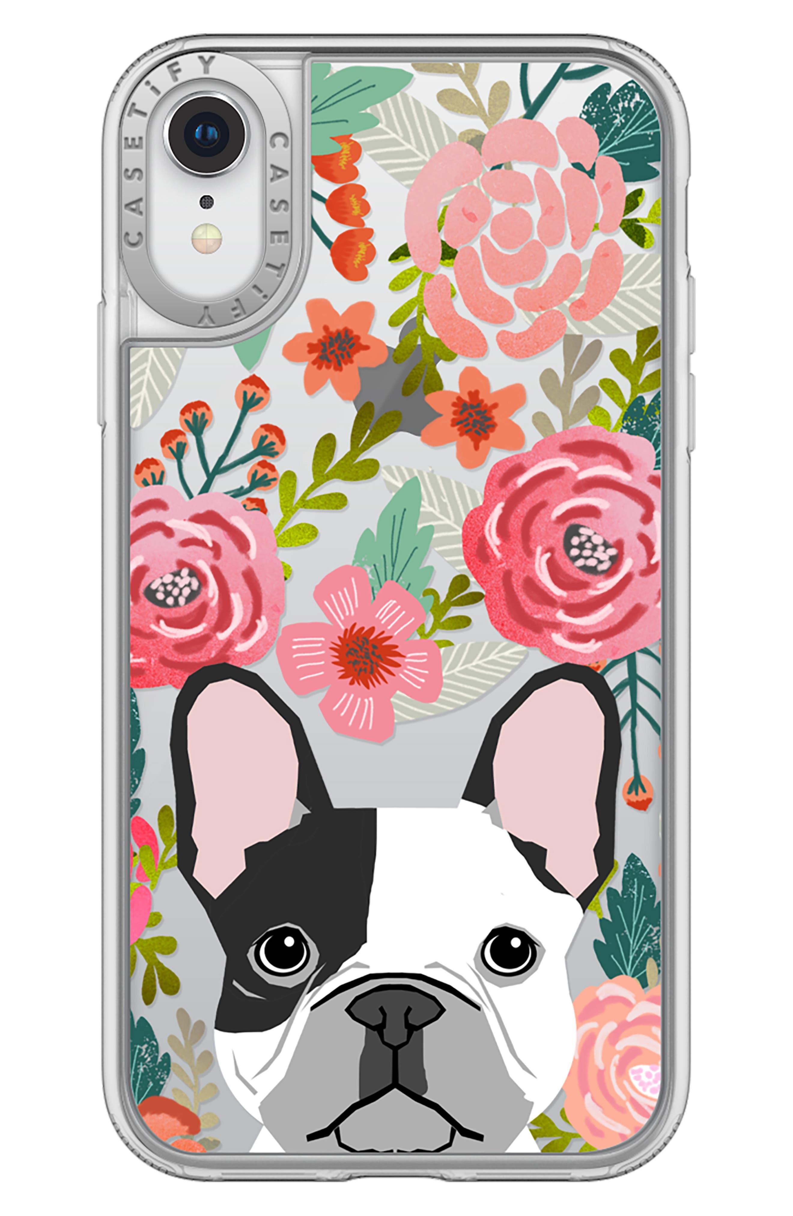 French Bulldog Grip iPhone X/Xs, XR & X Max Case,                             Alternate thumbnail 3, color,                             650