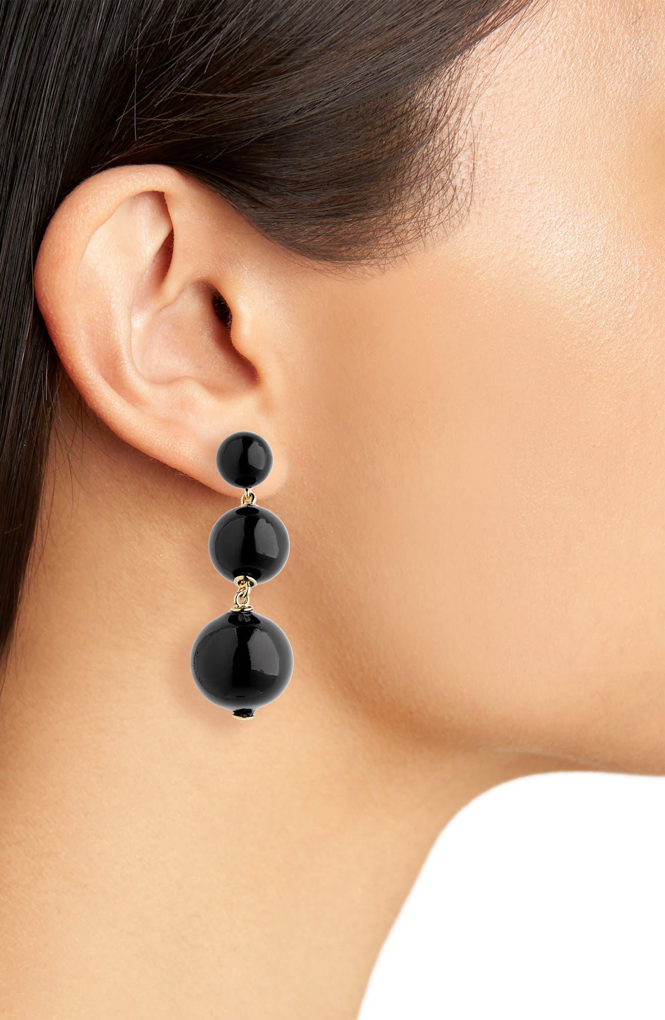 golden girl bauble drop earrings,                             Alternate thumbnail 11, color,