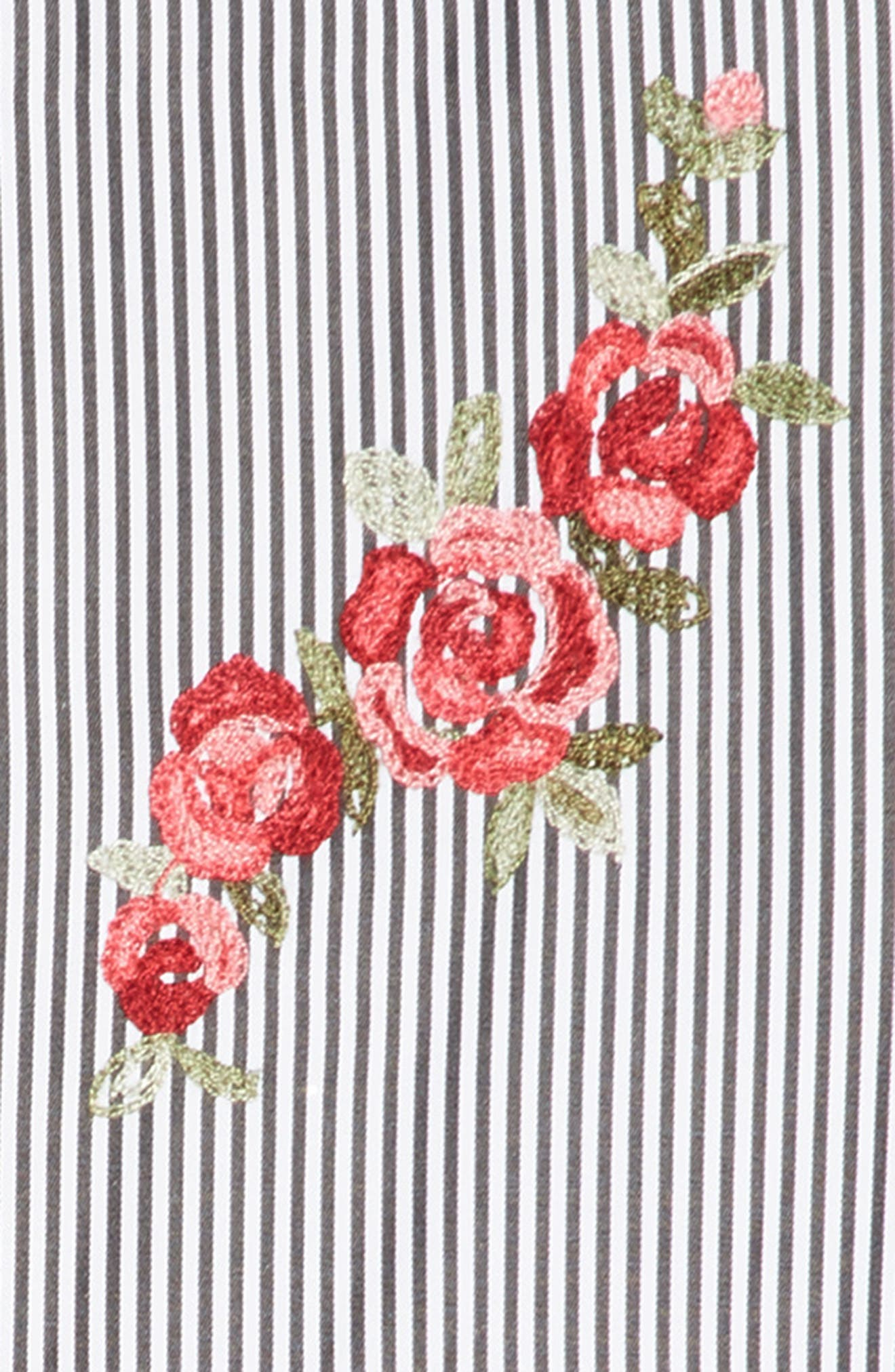 Embroidered Stripe Dress,                             Alternate thumbnail 3, color,                             101