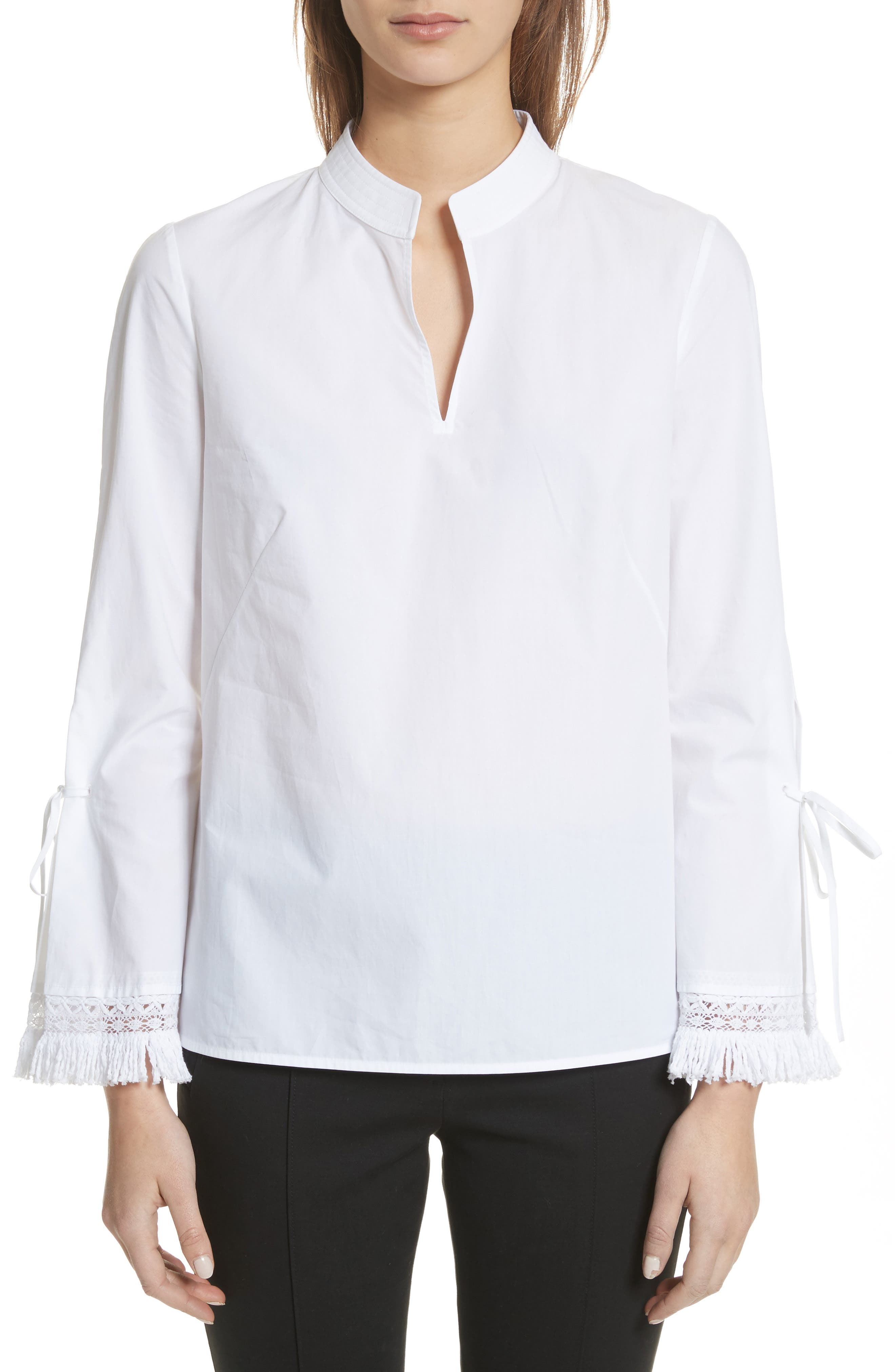 Sophie Tie Sleeve Cotton Blouse,                         Main,                         color,