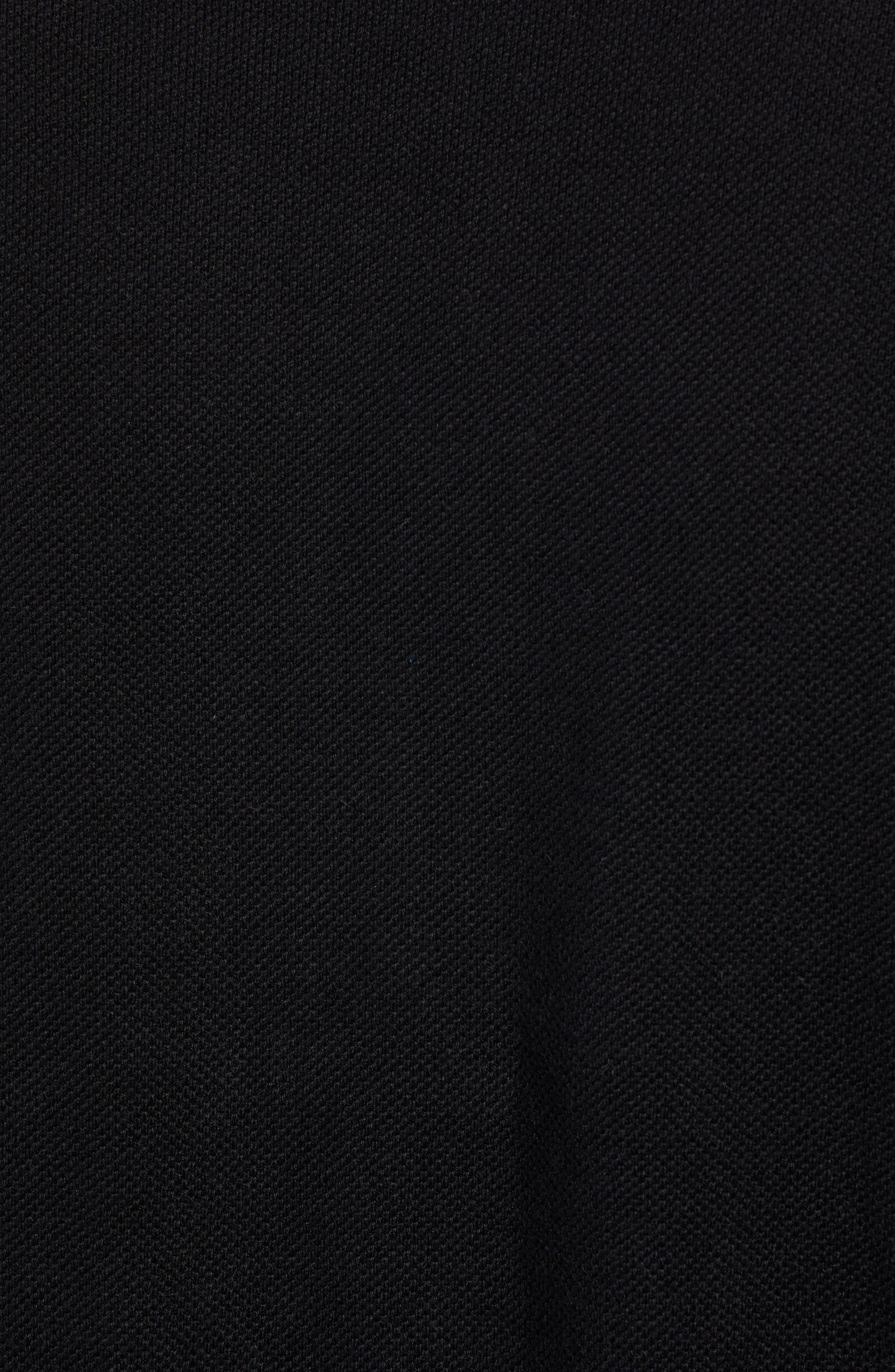 Cotton & Cashmere Piqué Crewneck Sweater,                             Alternate thumbnail 5, color,                             001