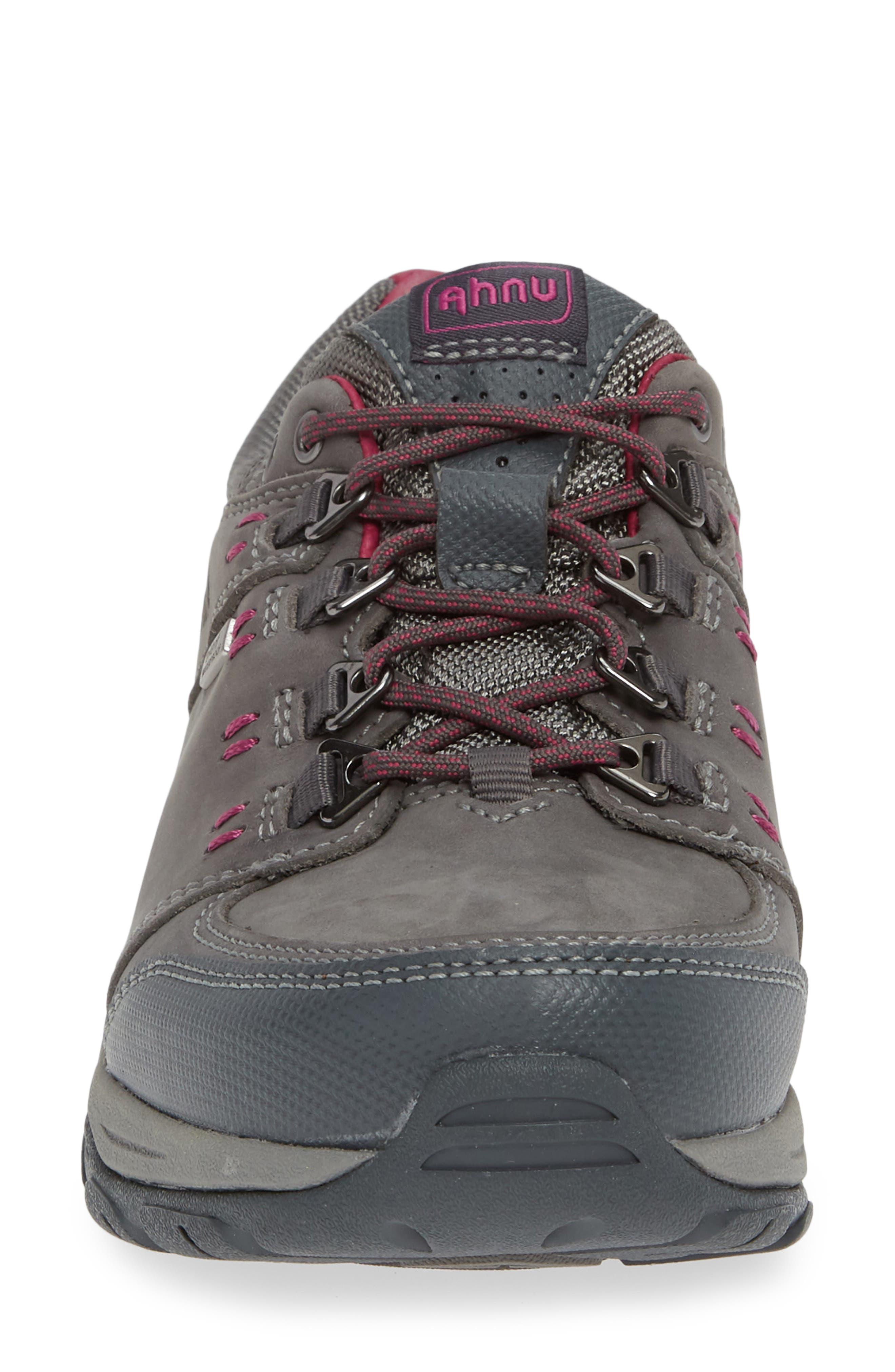 TEVA,                             Ahnu by Teva Montara III Waterproof Hiking Sneaker,                             Alternate thumbnail 4, color,                             CHARCOAL GRAY NUBUCK LEATHER