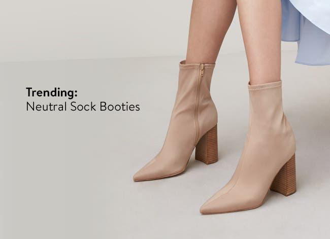 Women's sock booties.