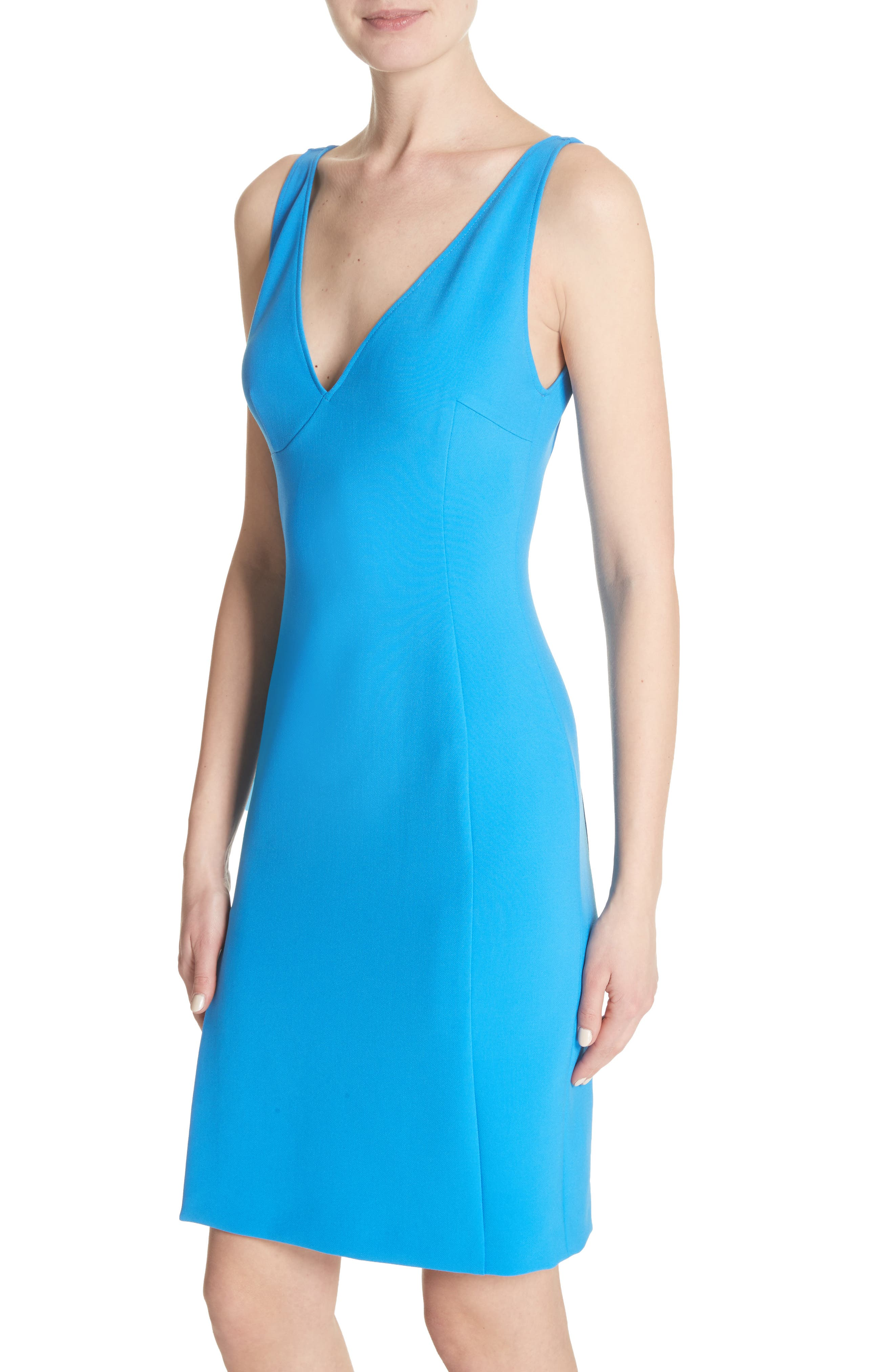 Stretch Cady Sheath Dress,                             Alternate thumbnail 4, color,                             405