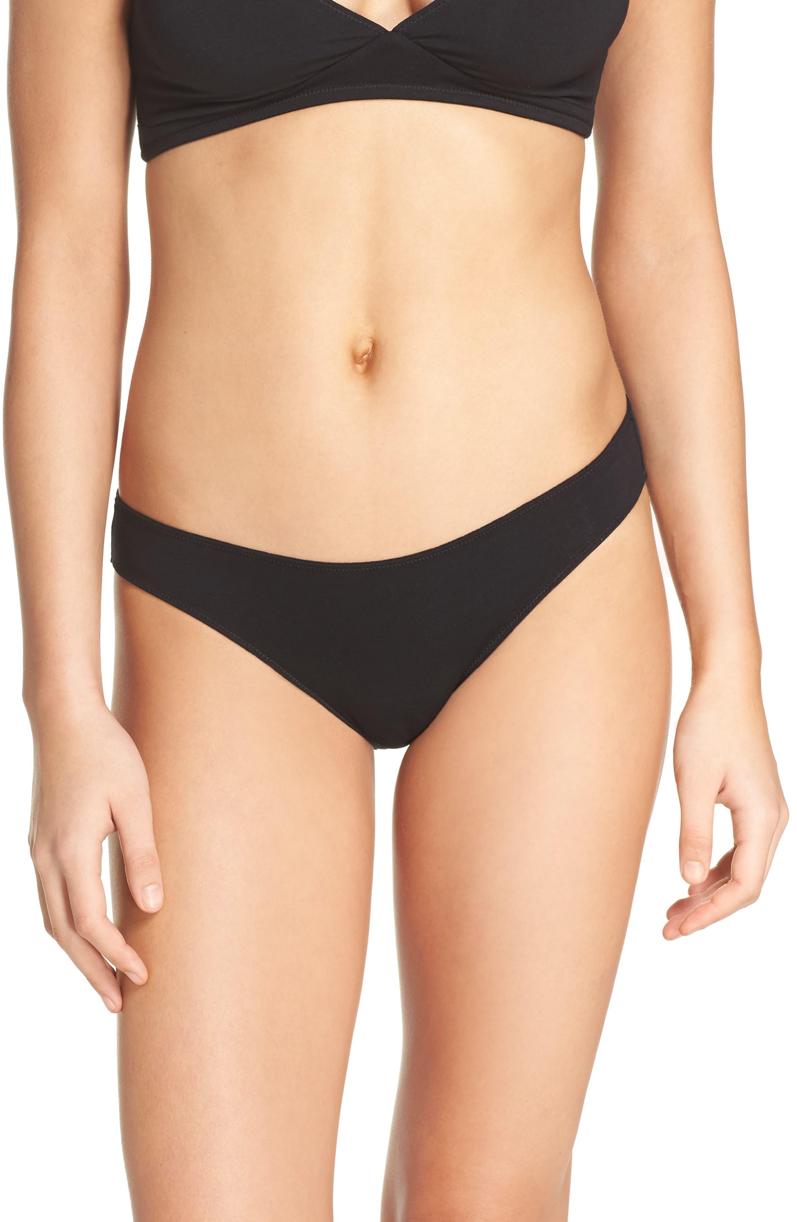 Jersey Bikini,                             Main thumbnail 1, color,                             TRUE BLACK