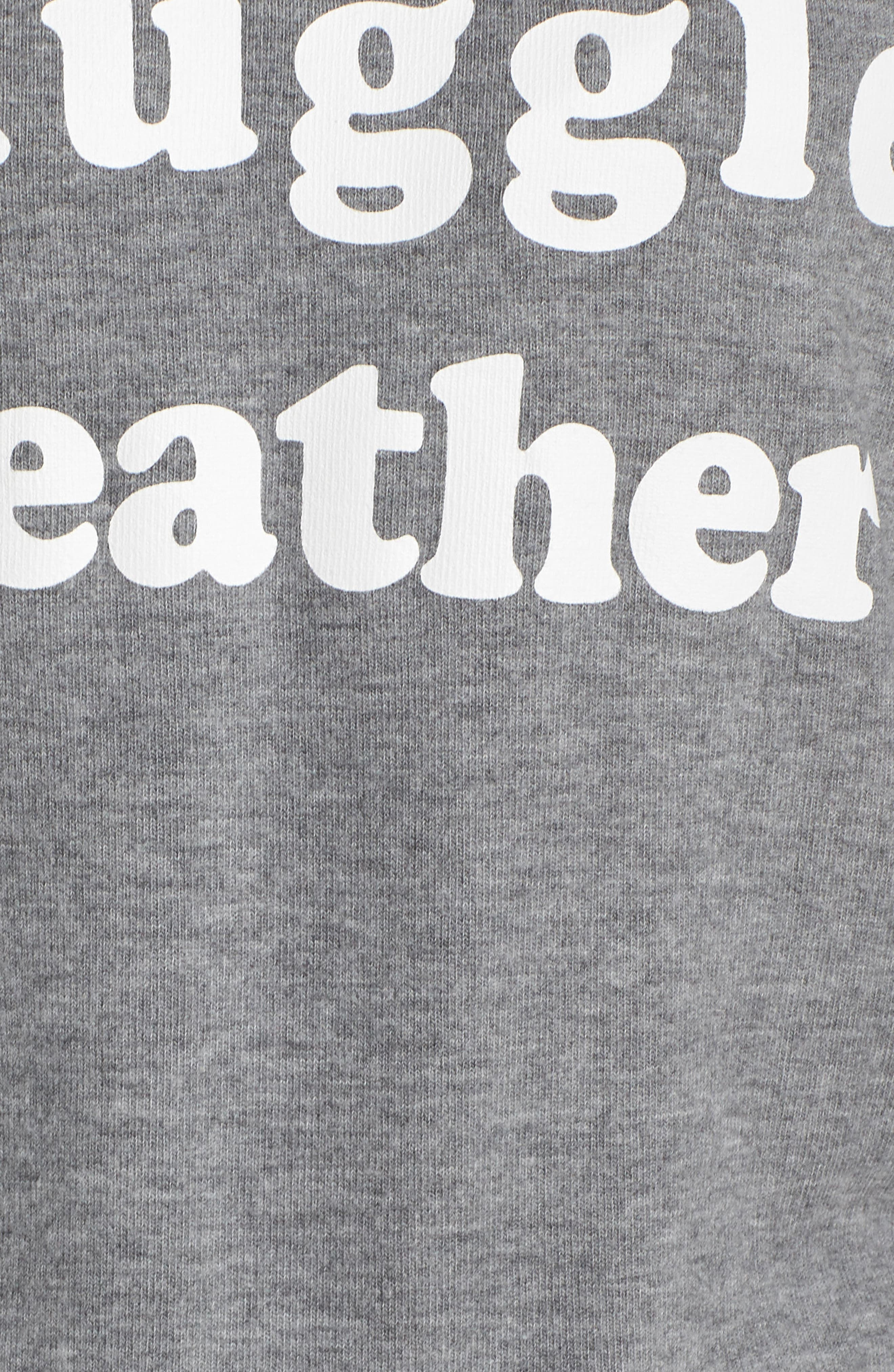 Snuggle Weather Tee,                             Alternate thumbnail 5, color,                             HEATHER GREY