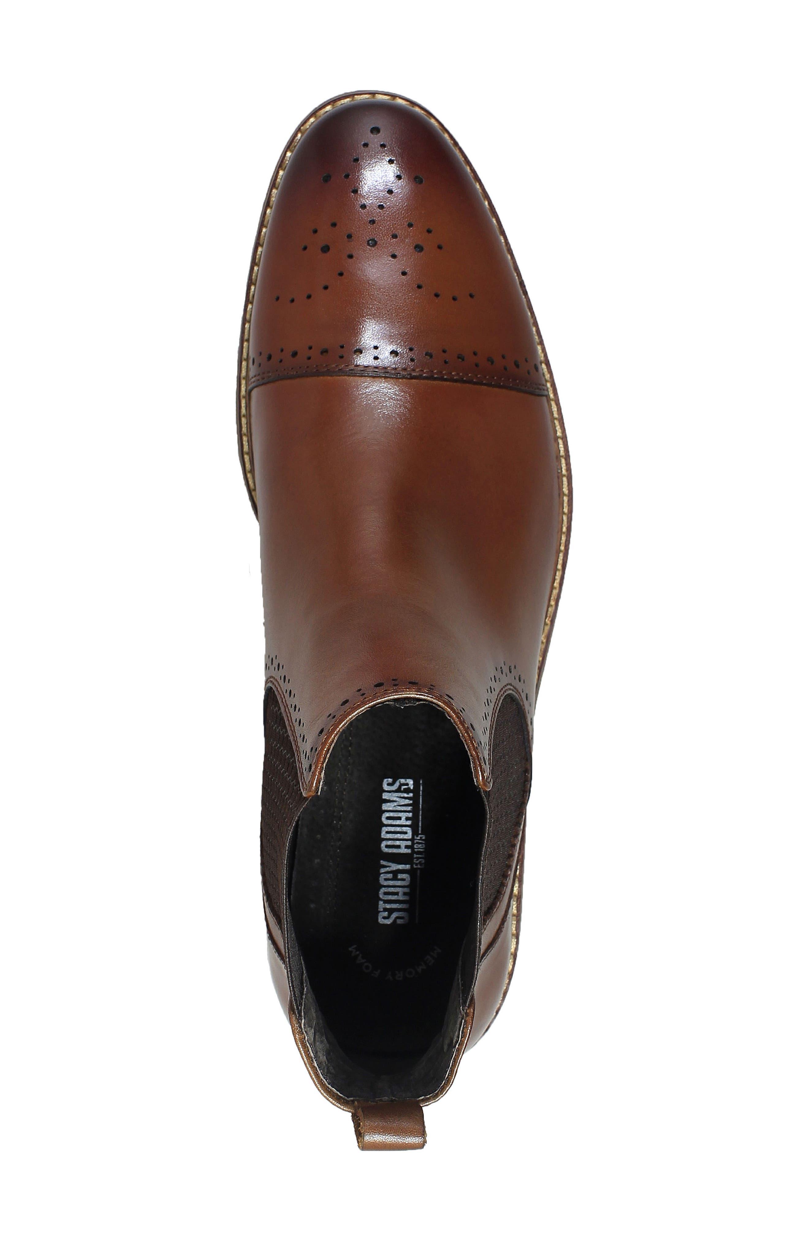 Alomar Chelsea Boot,                             Alternate thumbnail 5, color,                             COGNAC LEATHER