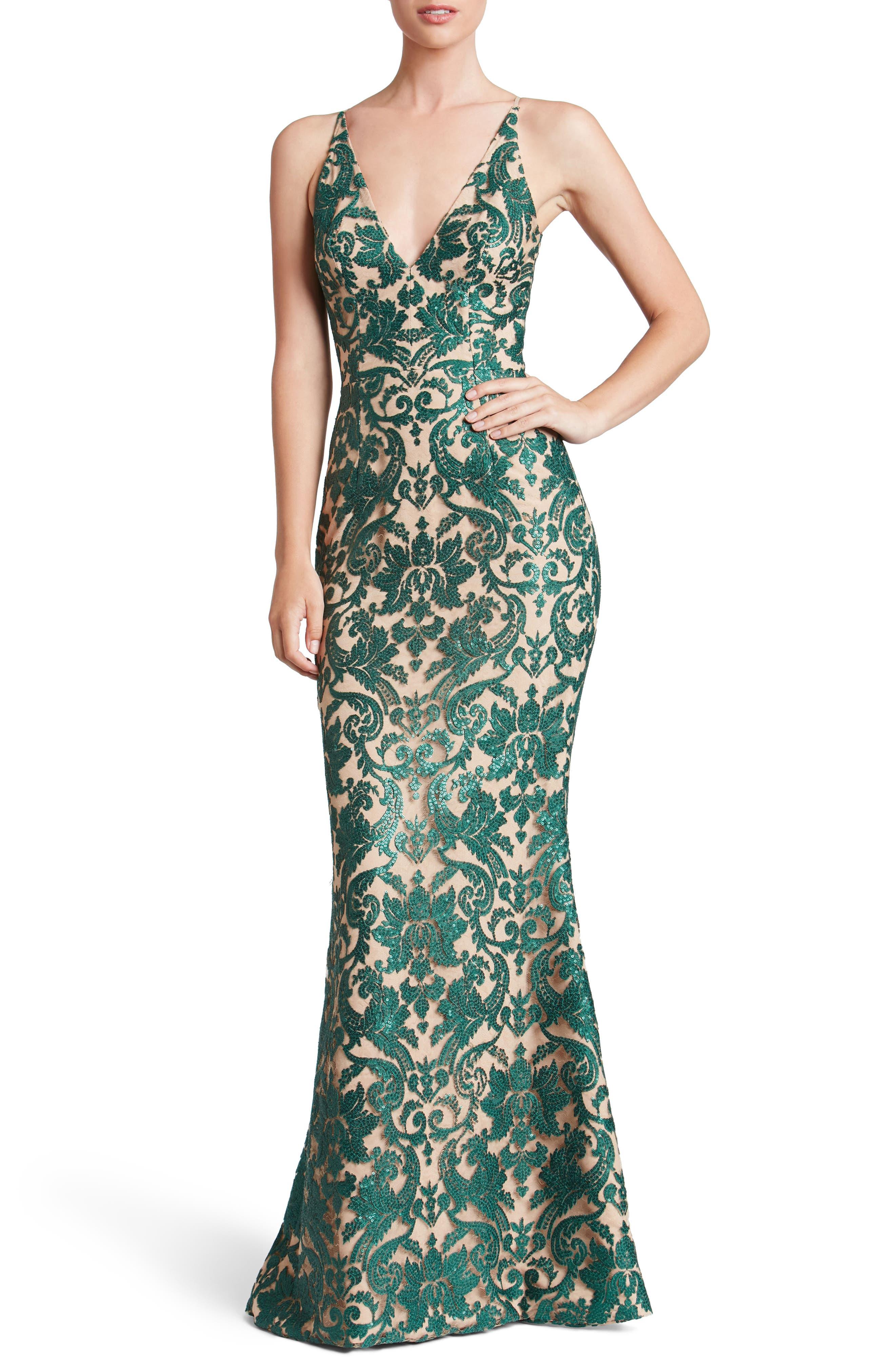 Karen Mermaid Gown,                             Main thumbnail 2, color,