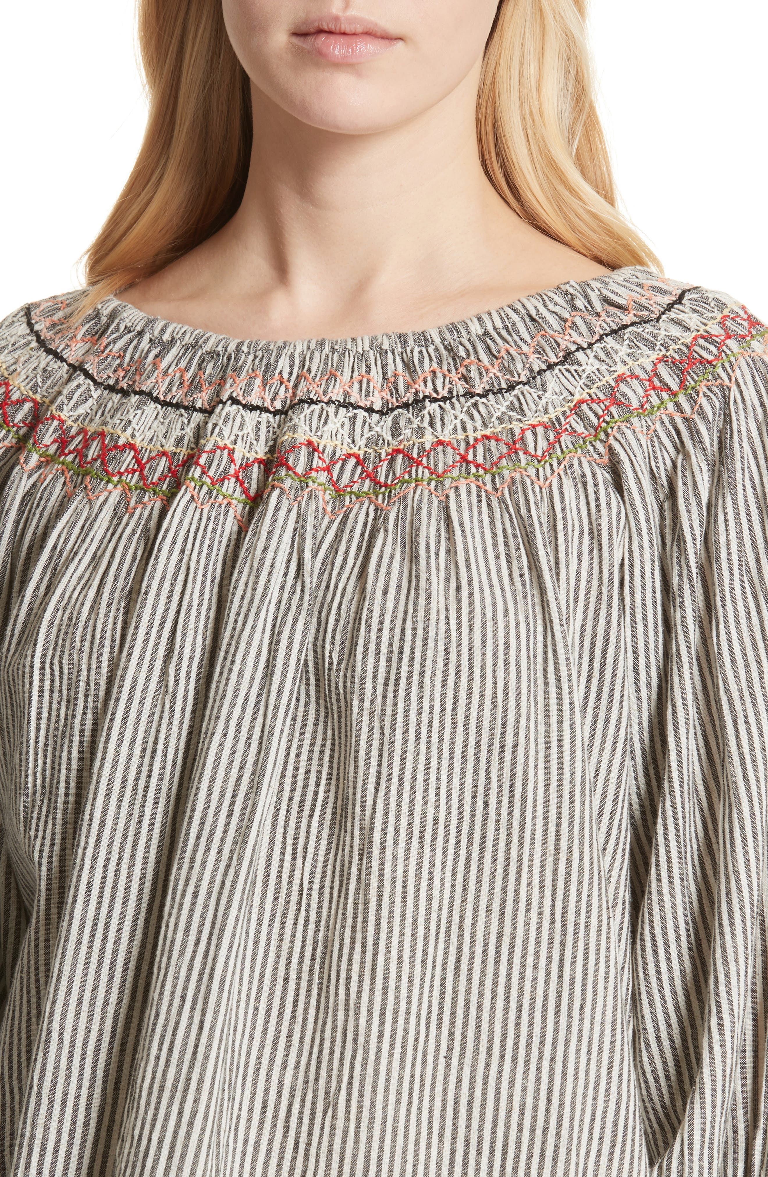 The Vista Cotton & Linen Top,                             Alternate thumbnail 4, color,                             400