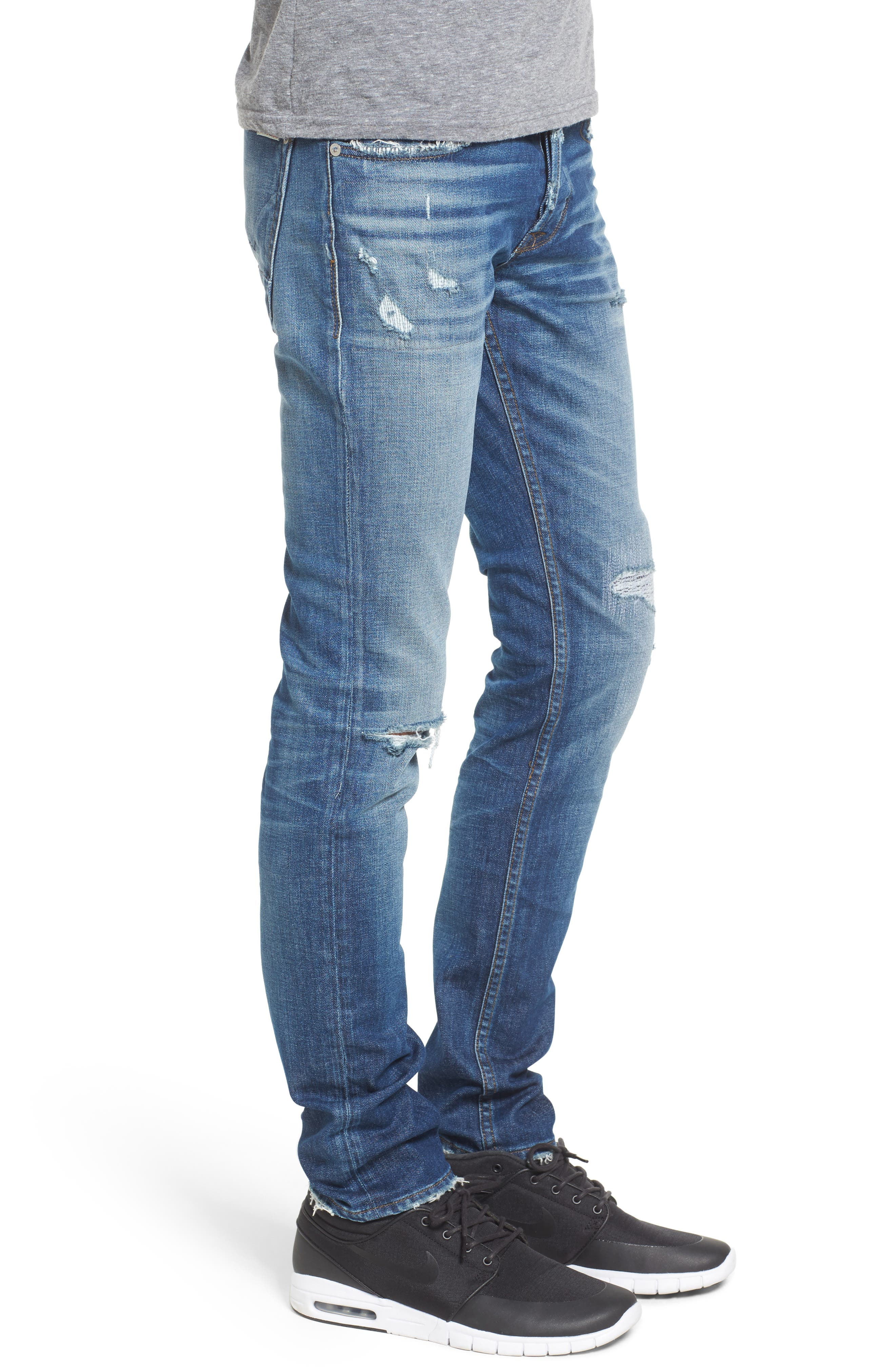 Axl Skinny Fit Jeans,                             Alternate thumbnail 3, color,                             422