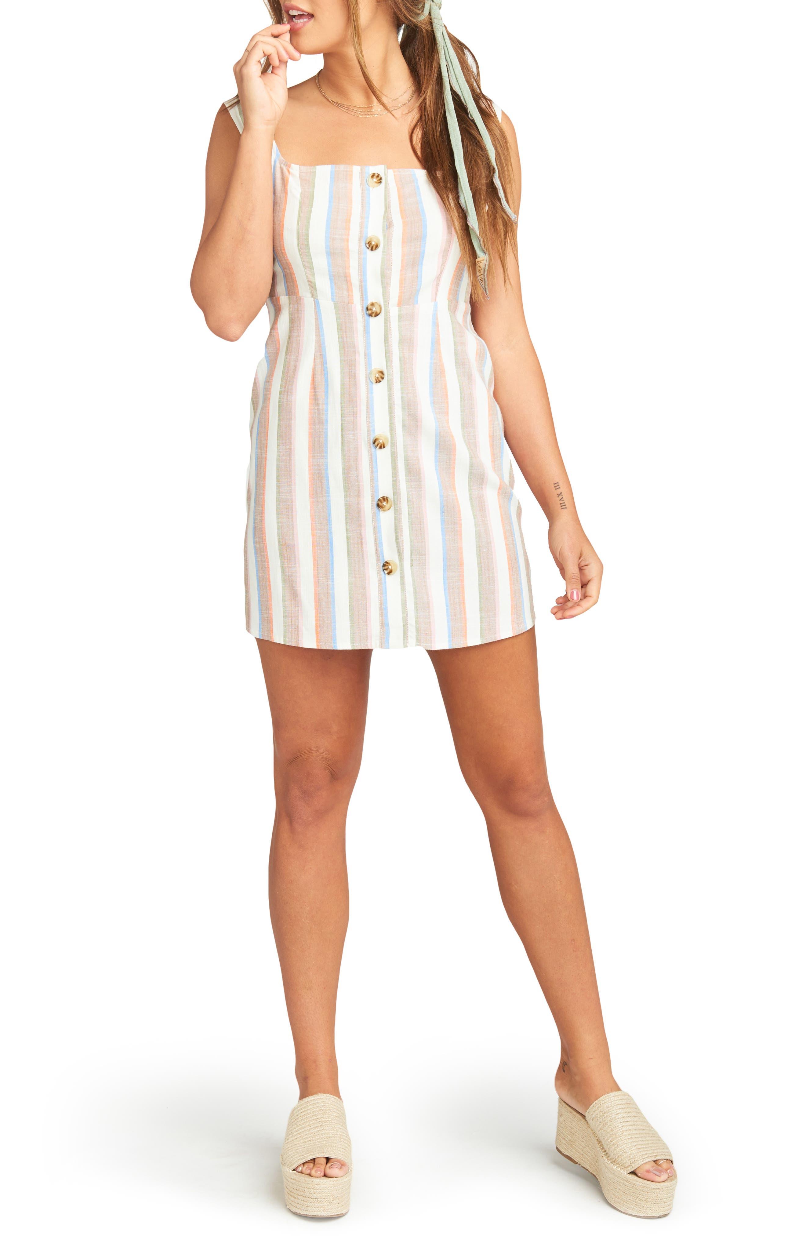 Show Me Your Mumu Cora Stripe Dress, White