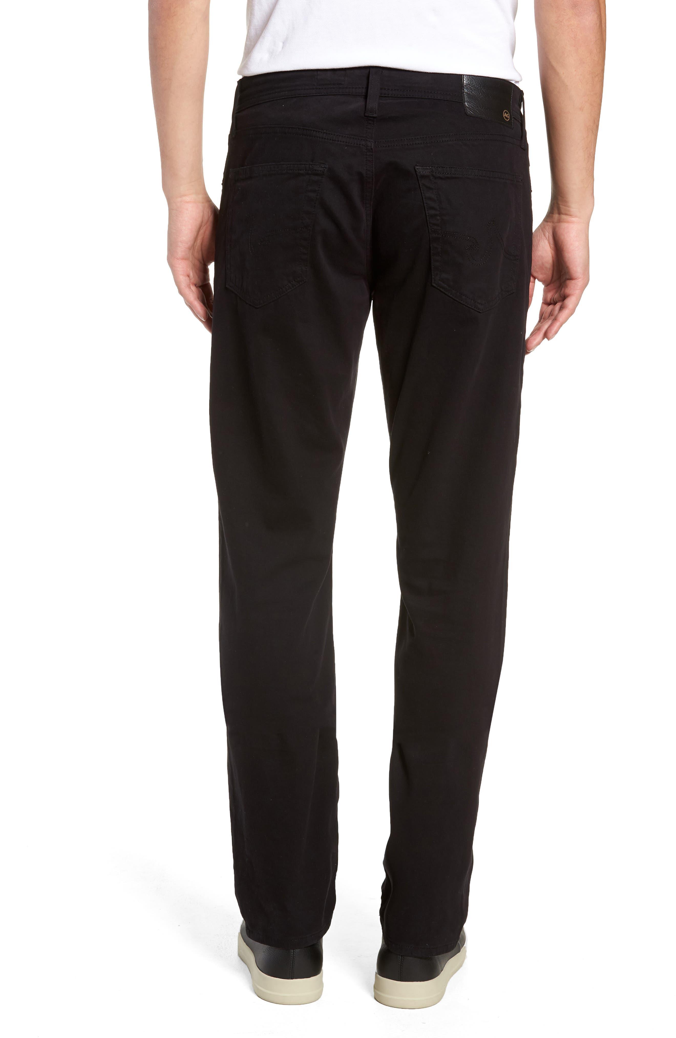Graduate SUD Slim Straight Leg Pants,                             Alternate thumbnail 3, color,                             BLACK