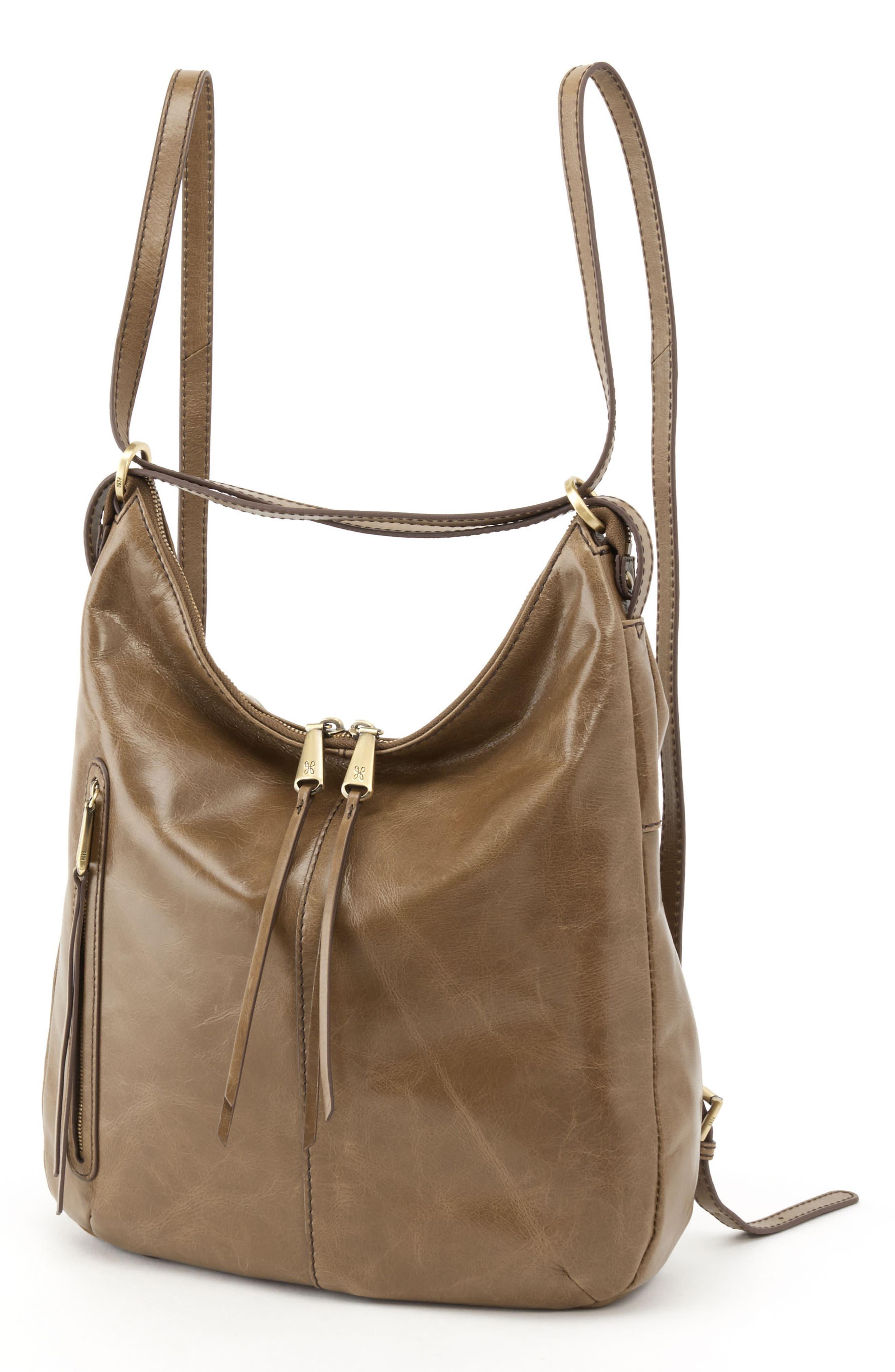 Merrin Leather Backpack,                             Alternate thumbnail 5, color,                             MINK