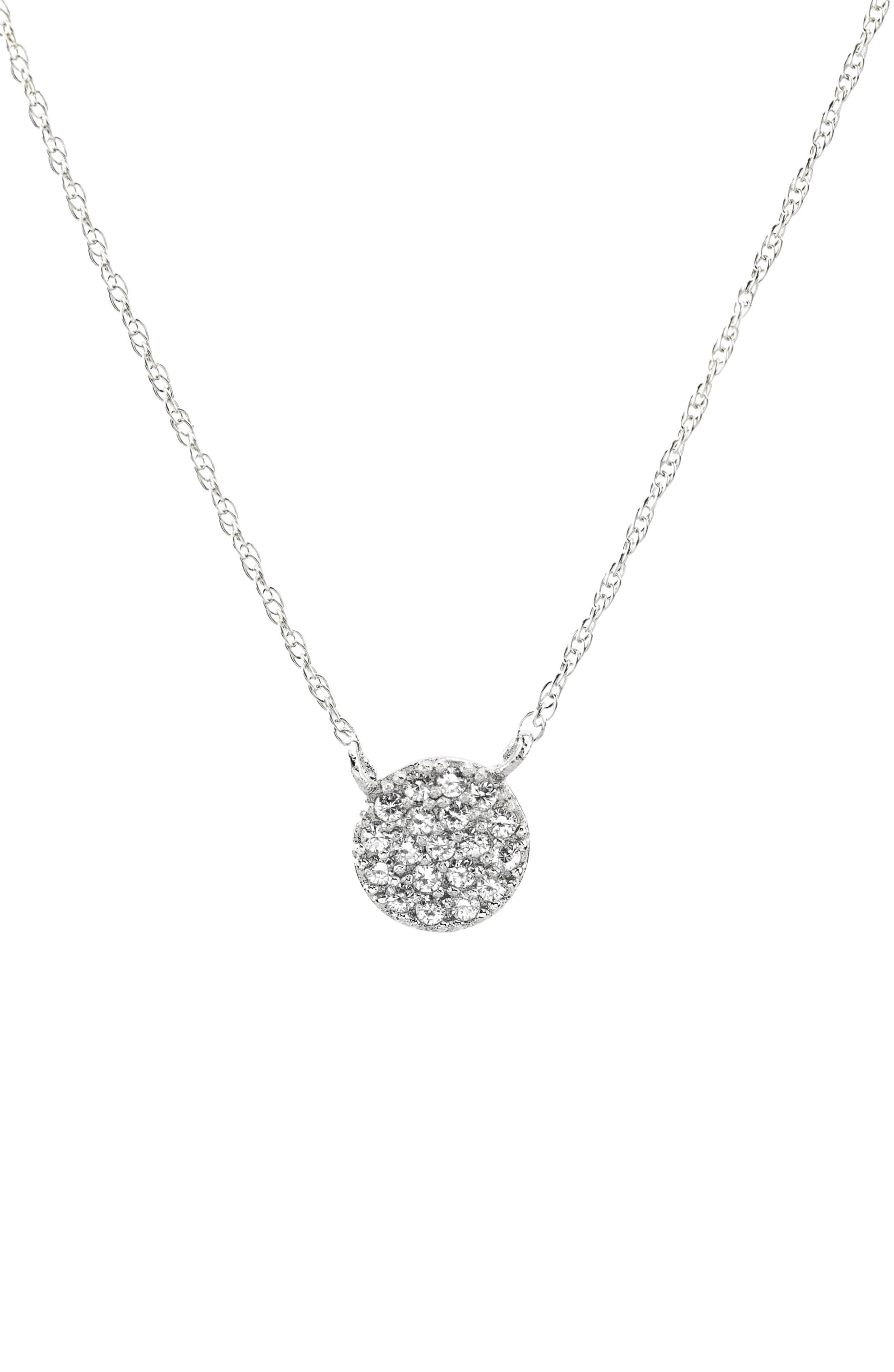 Pavé Round Charm Necklace,                             Main thumbnail 1, color,                             040