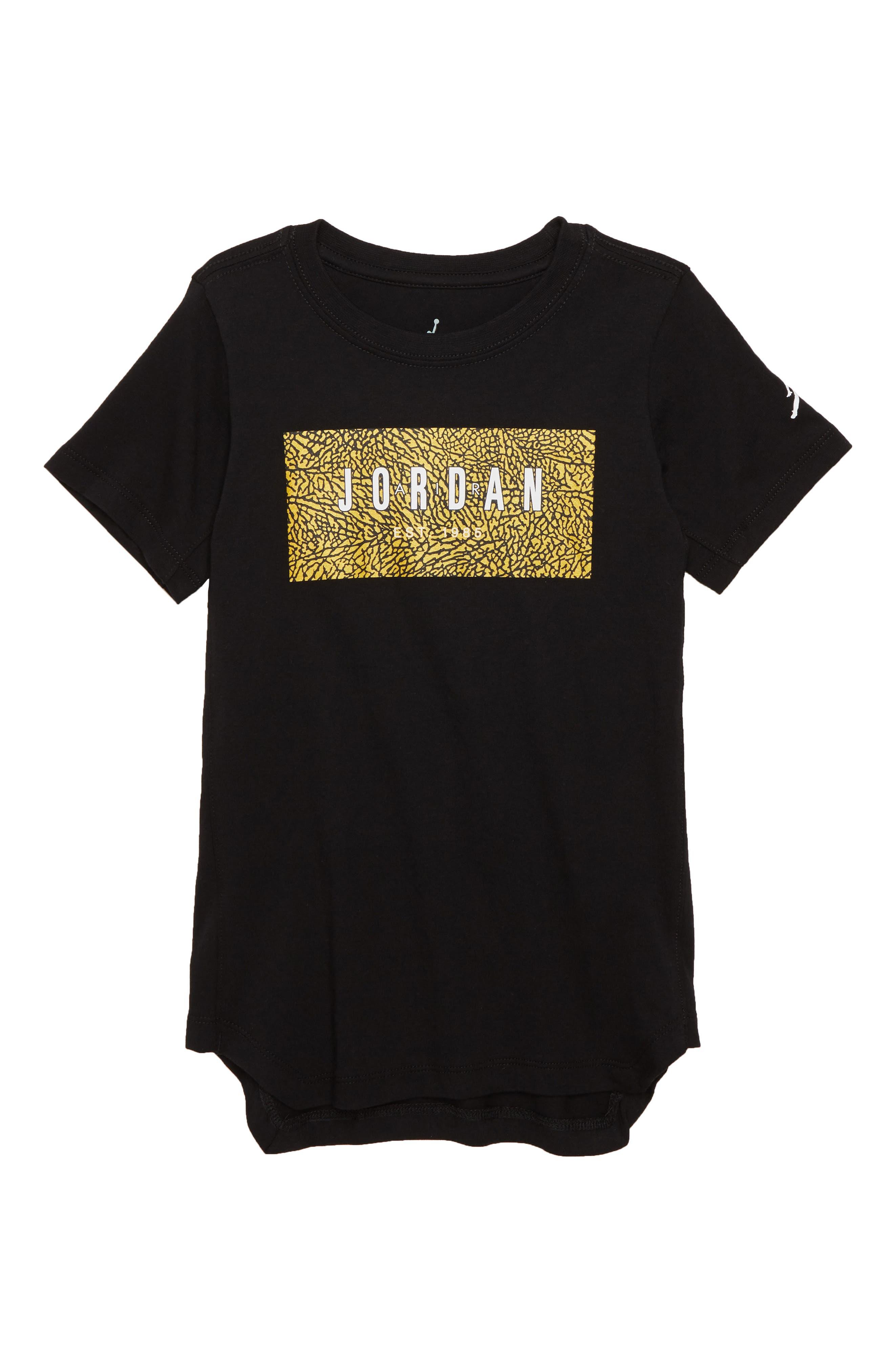 Logo Box T-Shirt, Main, color, BLACK