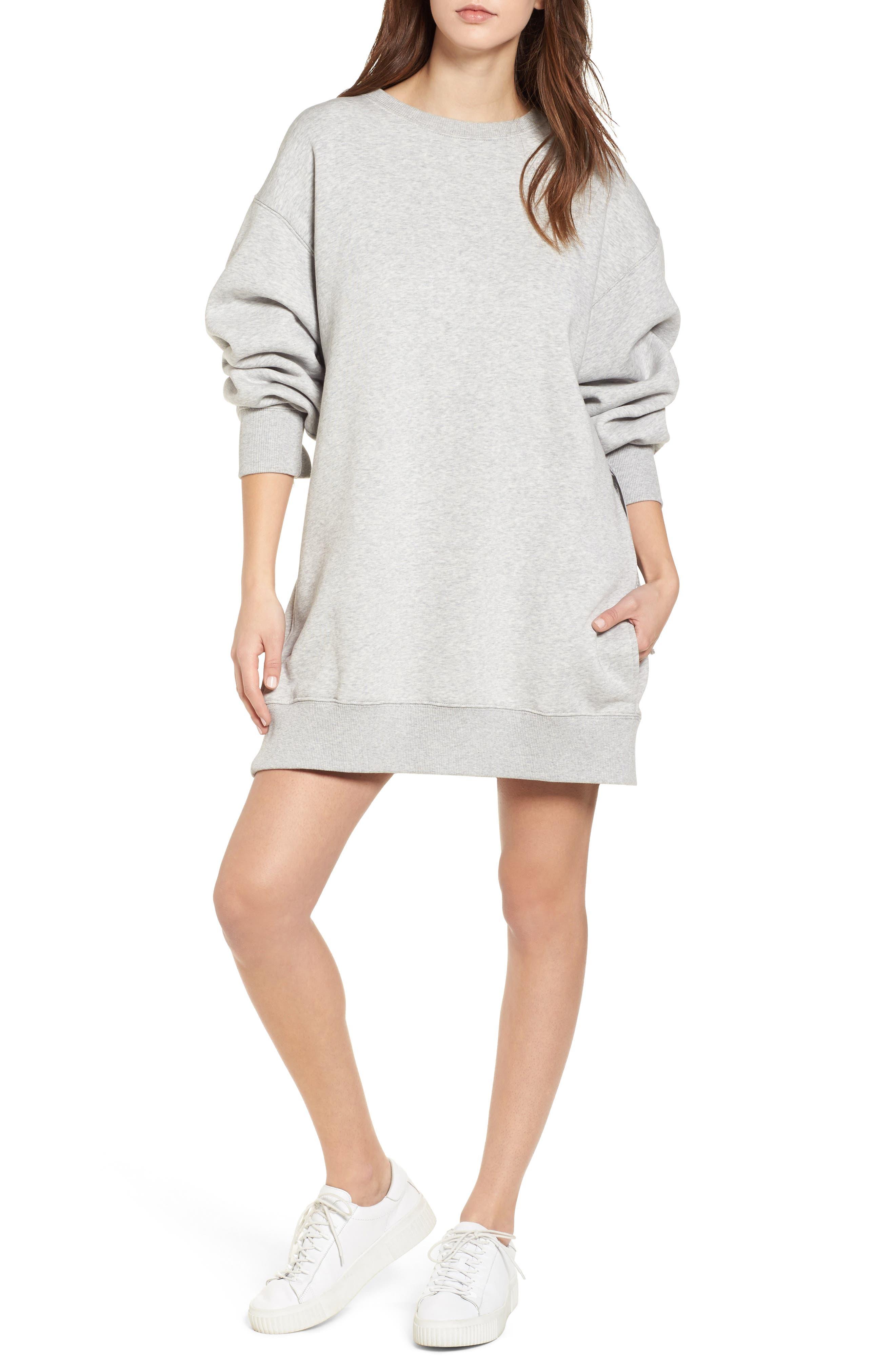 x Gigi Hadid Sweatshirt Dress,                         Main,                         color, 020