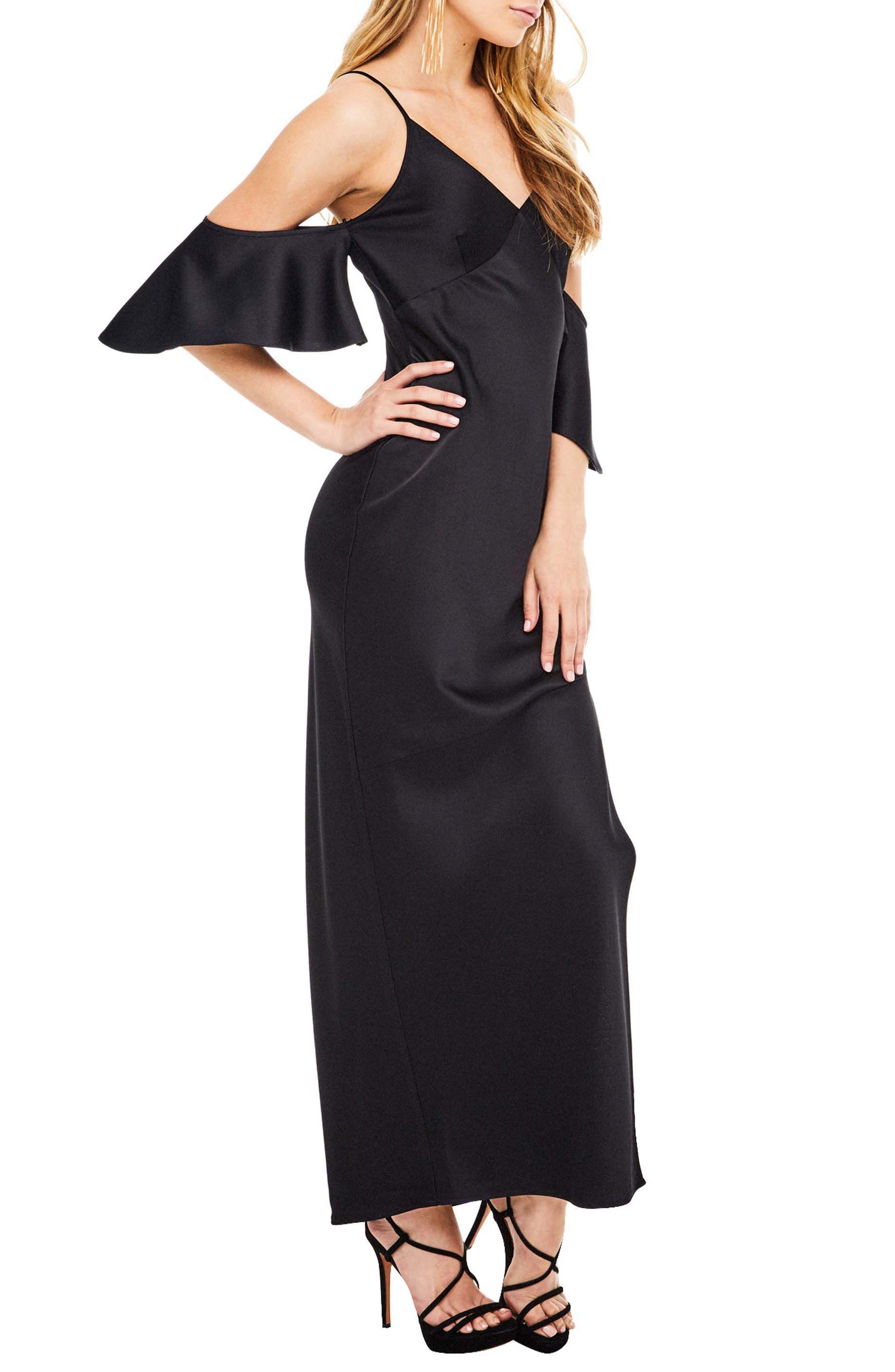 Kendra Maxi Dress,                             Alternate thumbnail 3, color,                             001