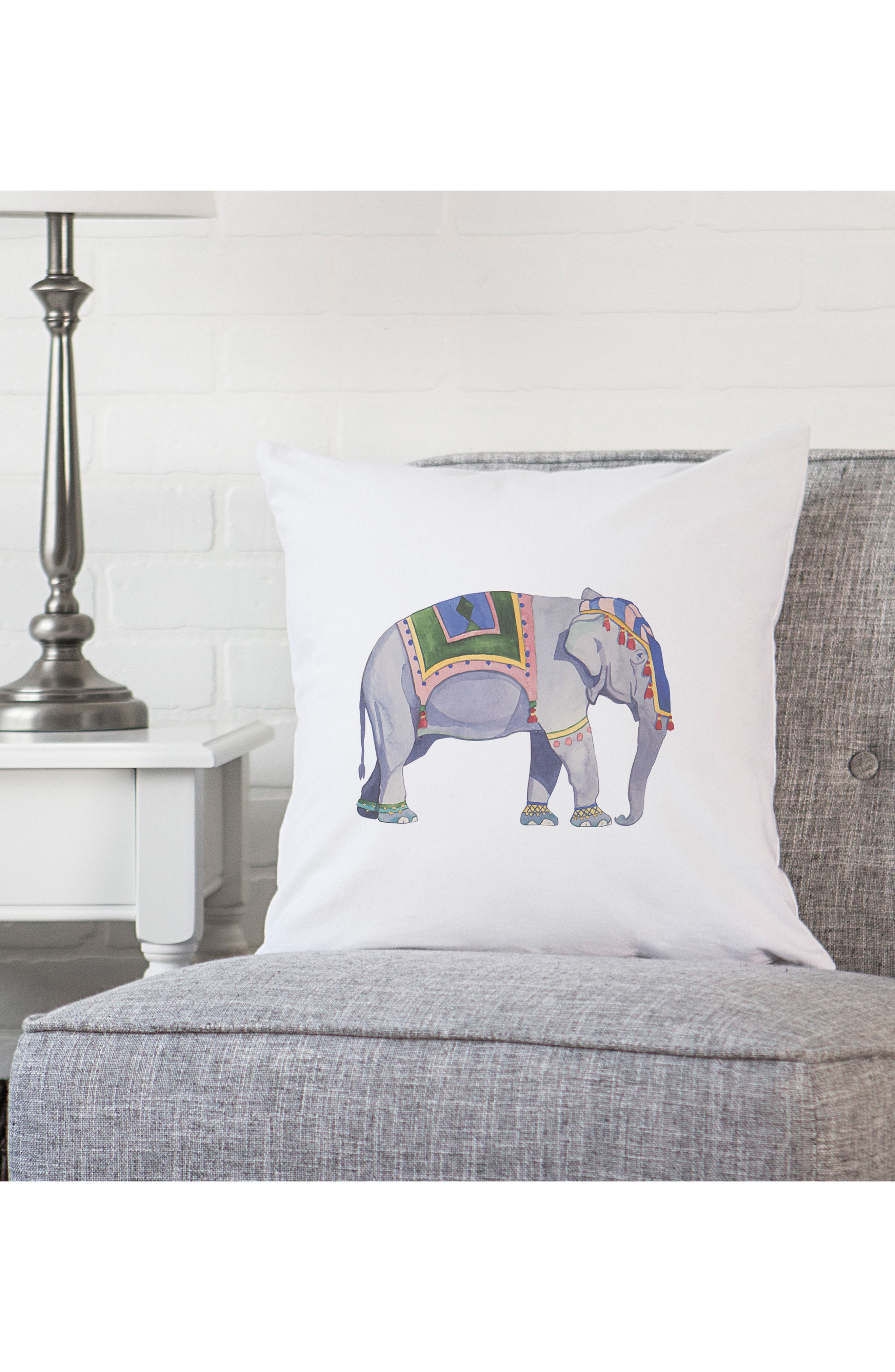 Elephant Accent Pillow,                             Alternate thumbnail 3, color,