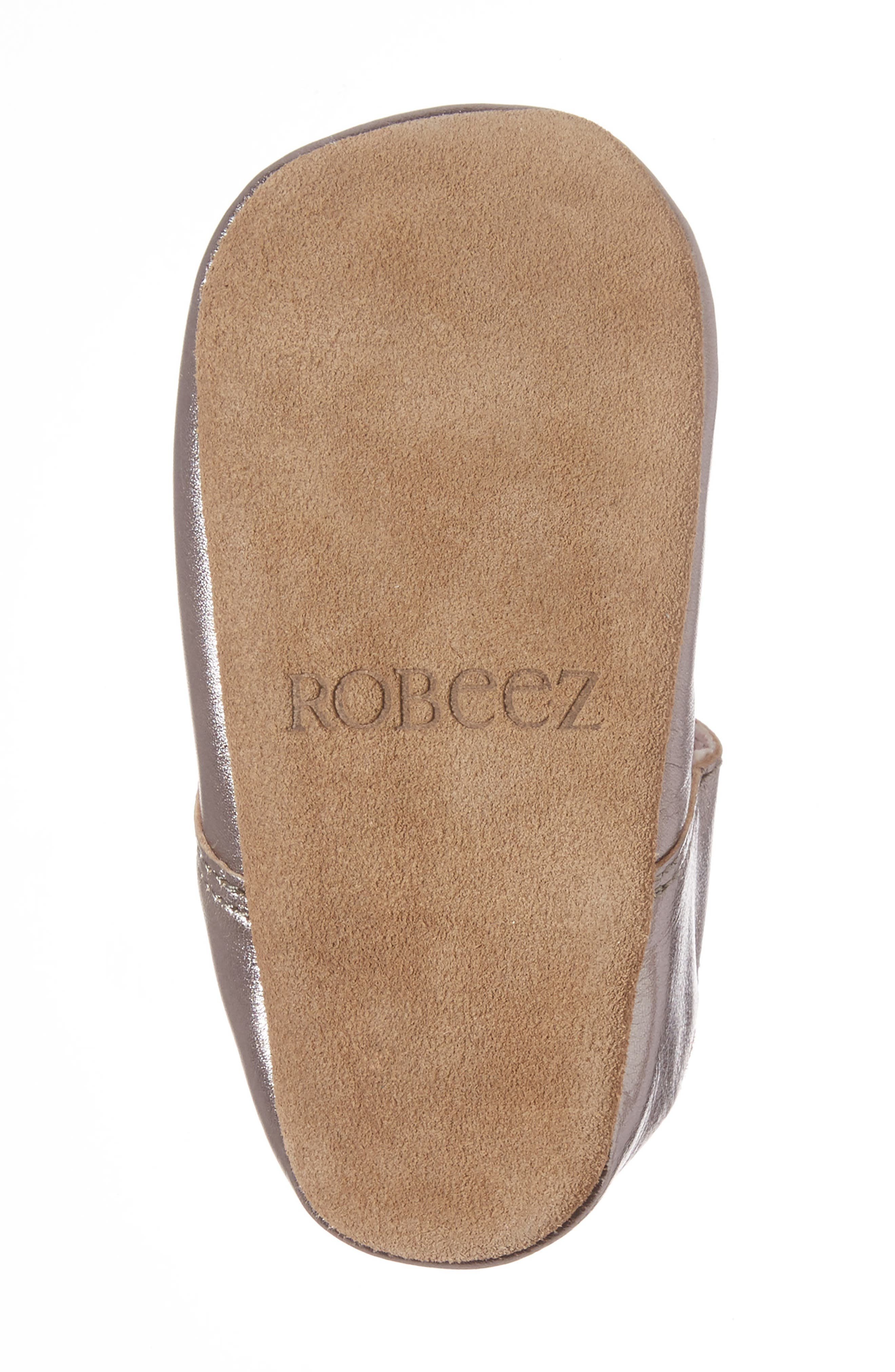 ROBEEZ<SUP>®</SUP>,                             Amelia Crib Shoes,                             Alternate thumbnail 6, color,                             GREY