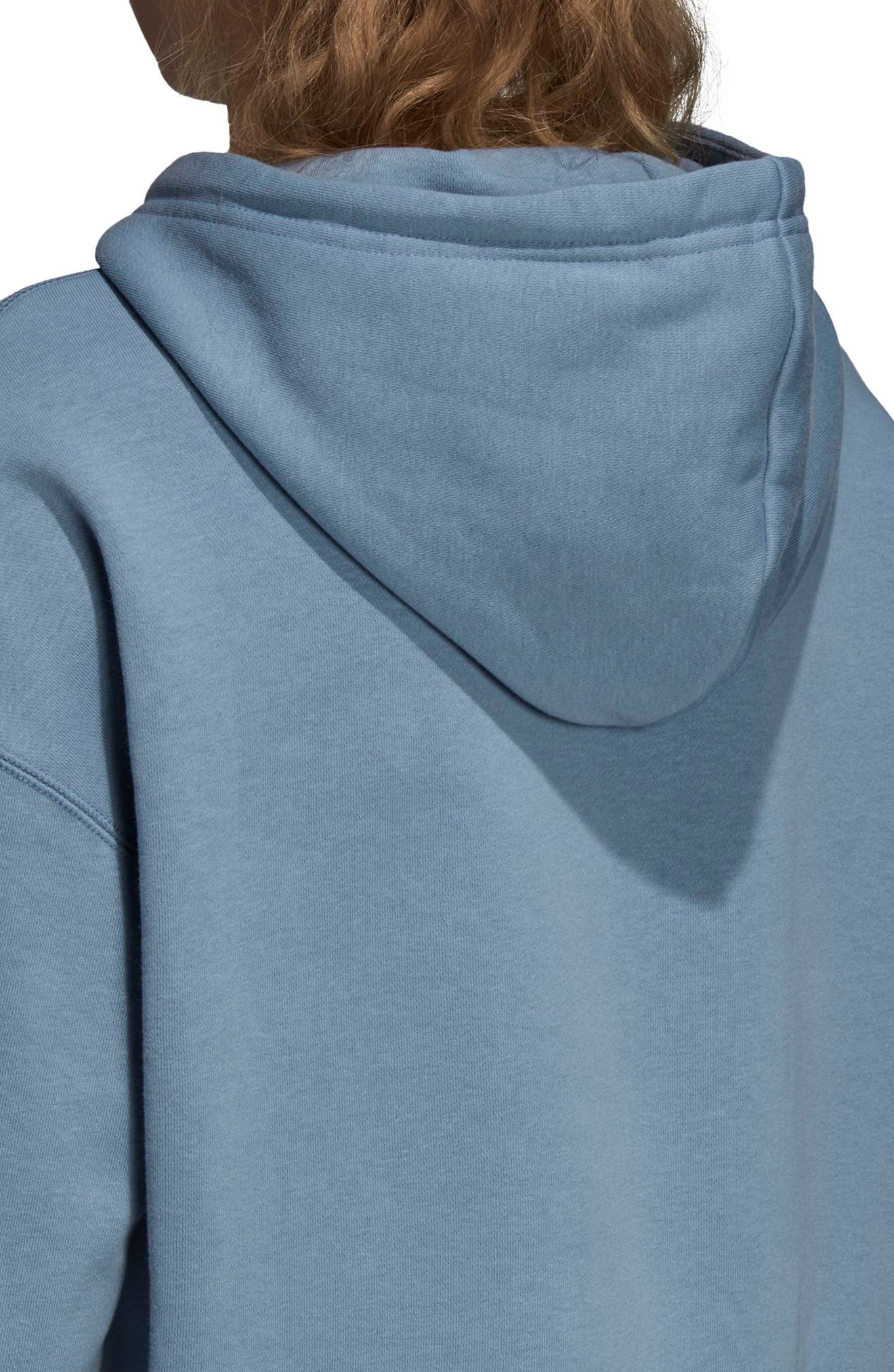 adidas Active Icons Crop Hoodie,                             Alternate thumbnail 5, color,                             060